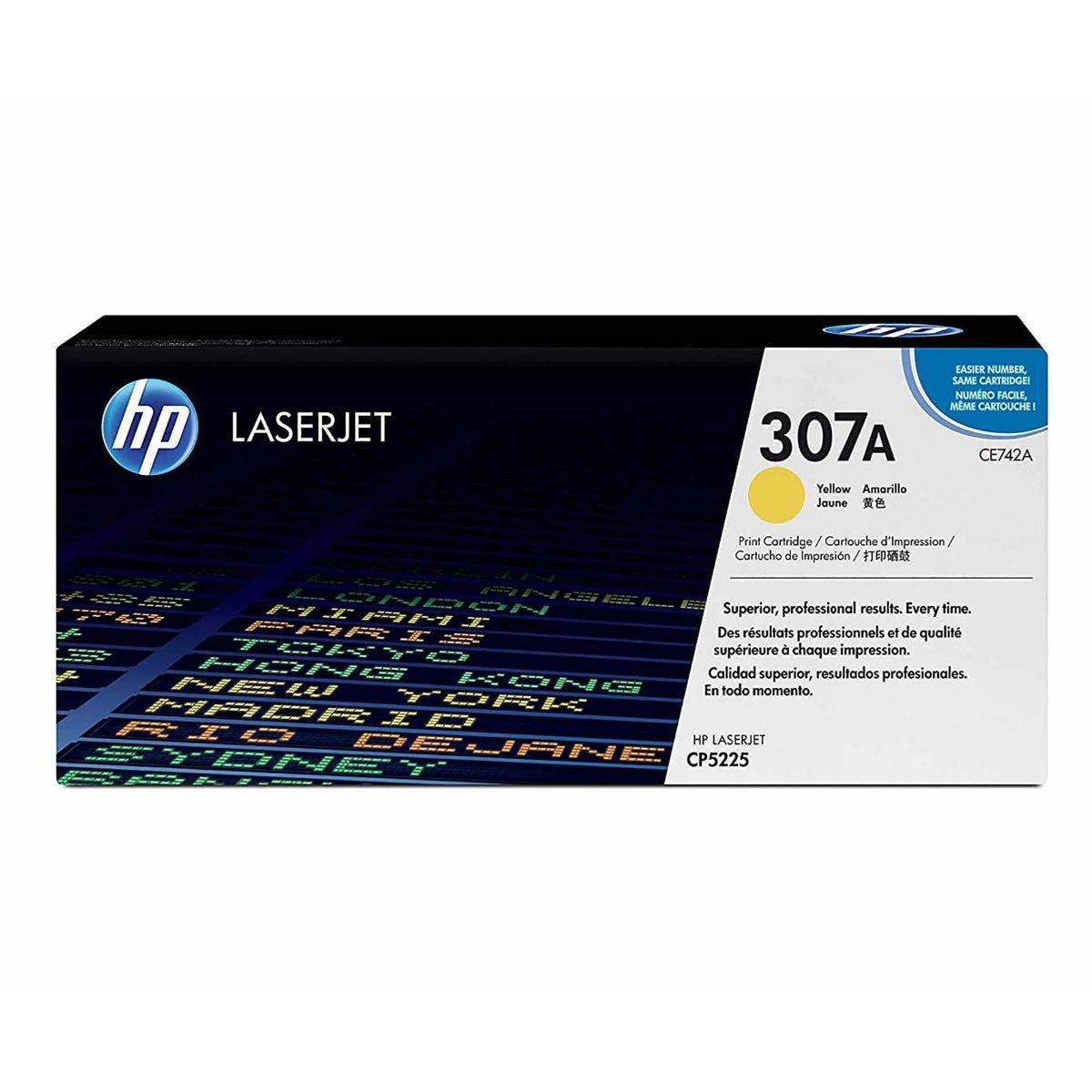 HP CE742A Laserjet Cartridge, Yellow