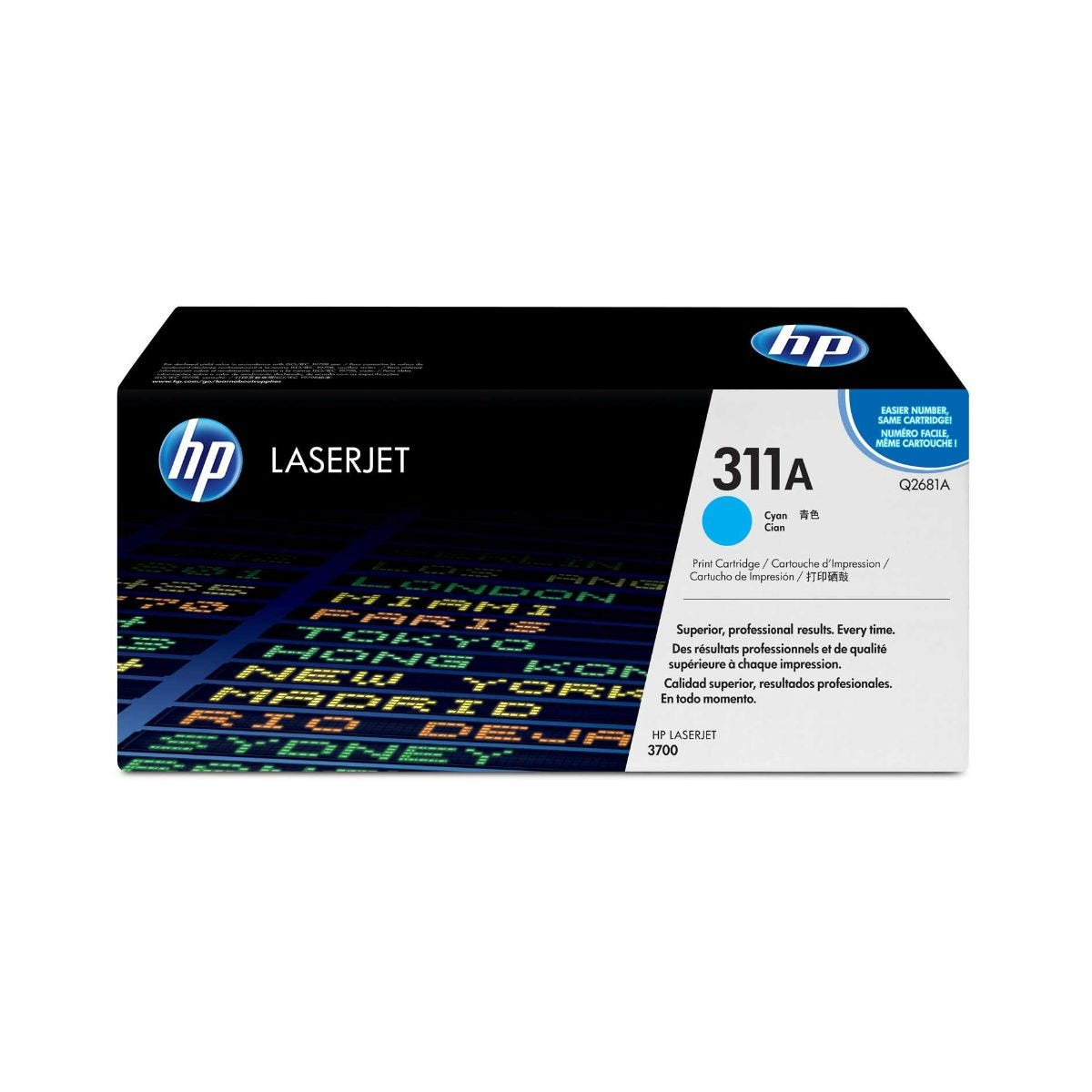 Image of HP 311A Laser Printer Ink Toner Cartridge Q2681A, Cyan