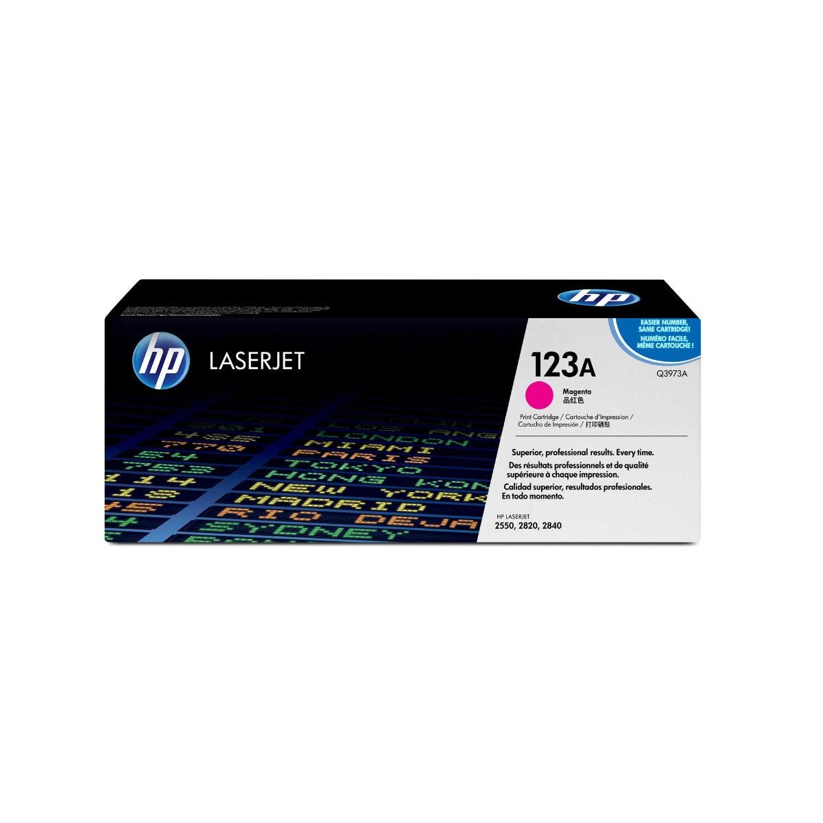 Image of HP 123A Laserjet Printer Ink Toner Cartridge Q3973A, Magenta