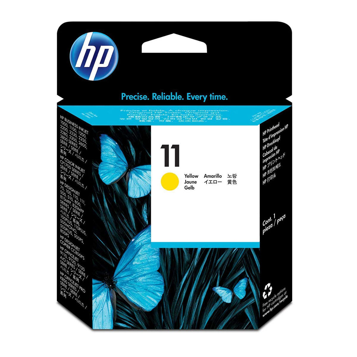 Image of HP 11 Ink Colour Printhead, Yellow