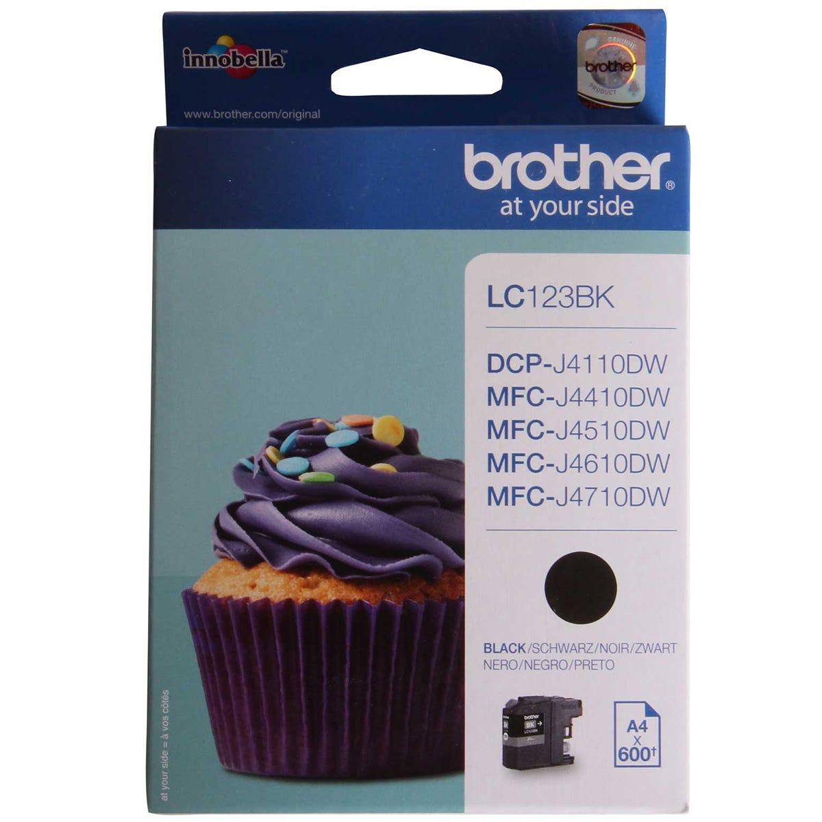 Image of Brother LC123 Ink Black Cartridge, Black