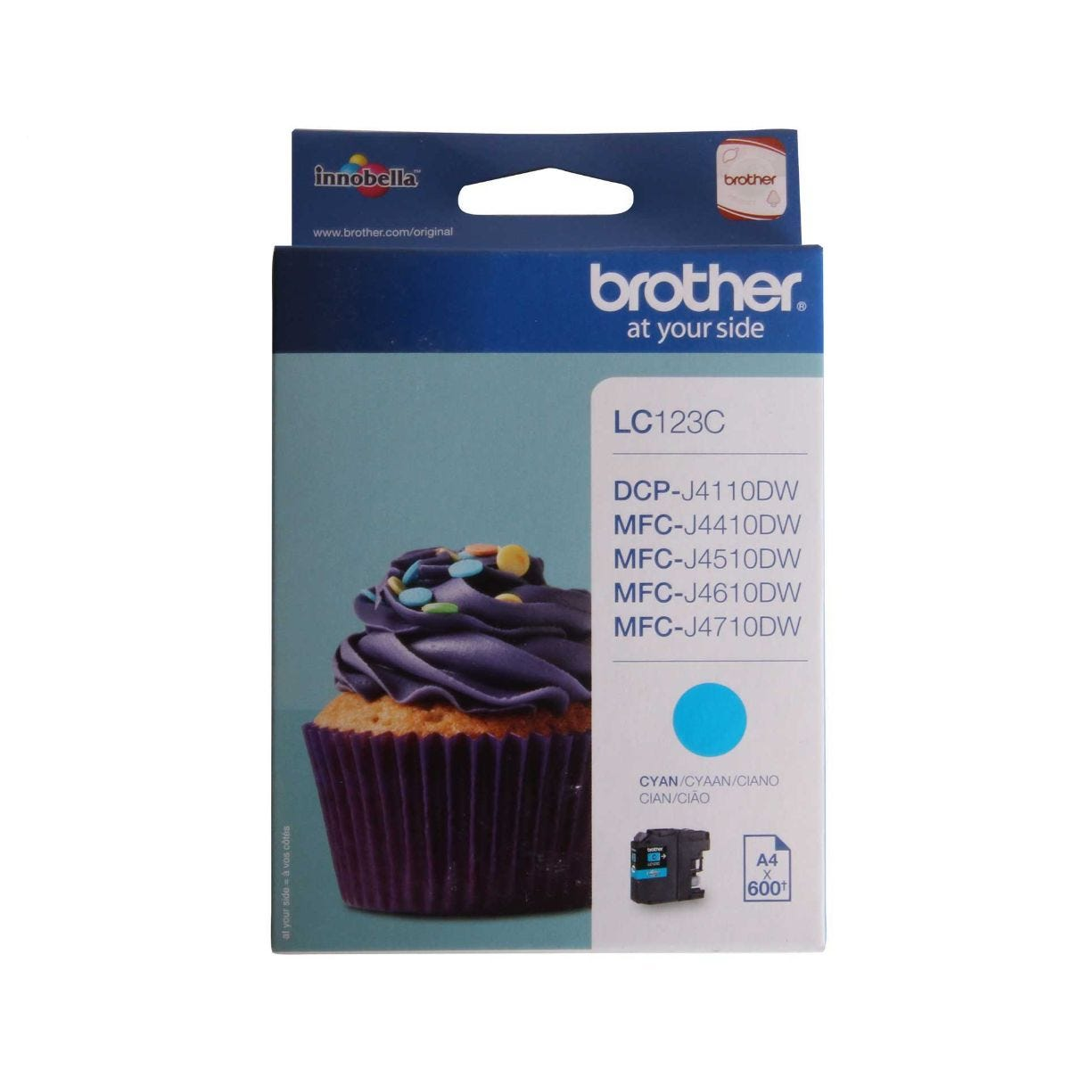 Image of Brother LC123 Ink Colour Cartridge, Cyan