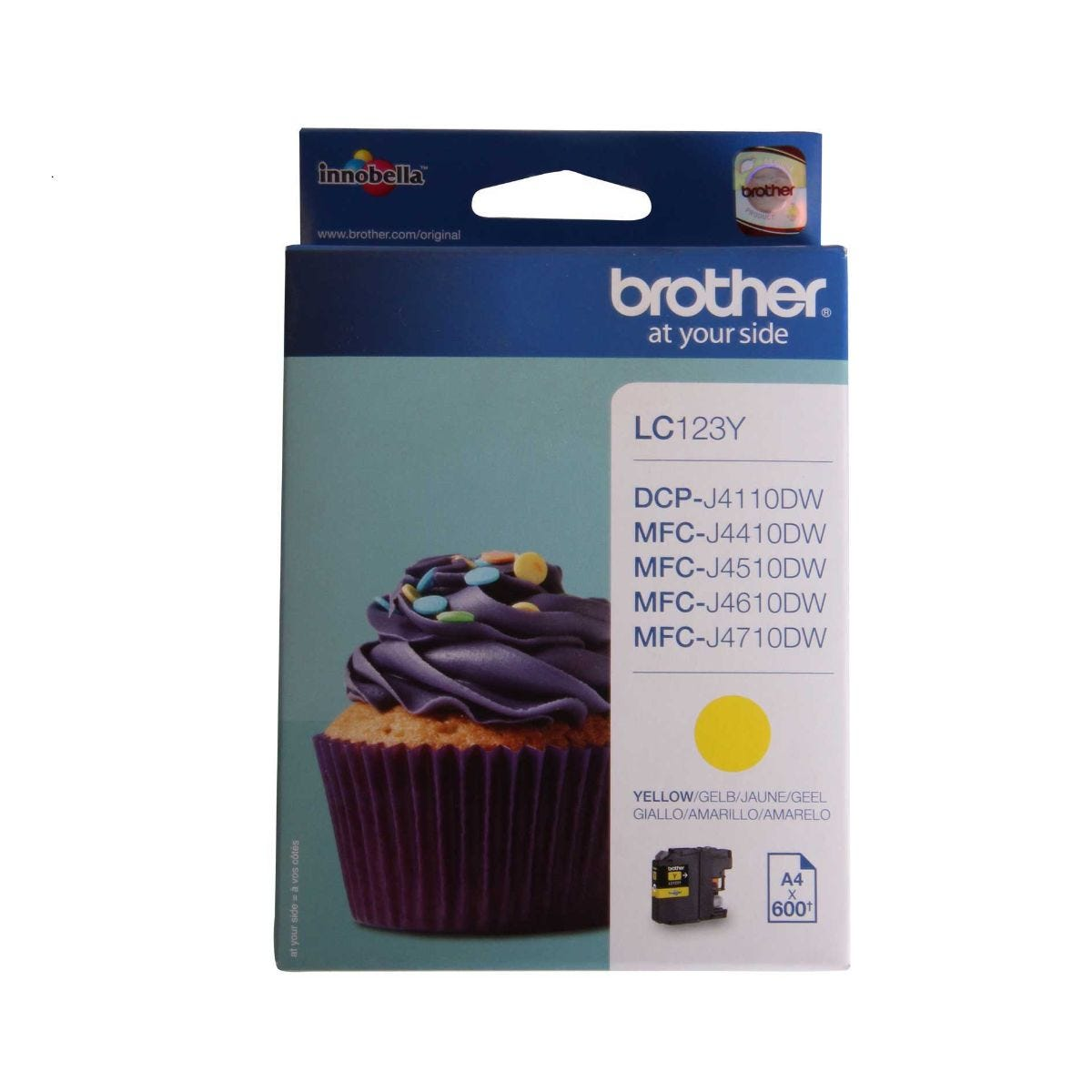 Image of Brother LC123 Ink Colour Cartridge, Yellow