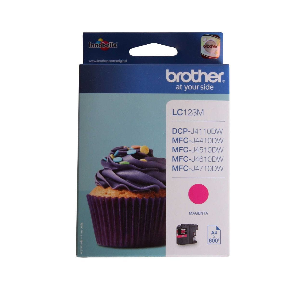 Image of Brother LC123 Ink Colour Cartridge, Magenta