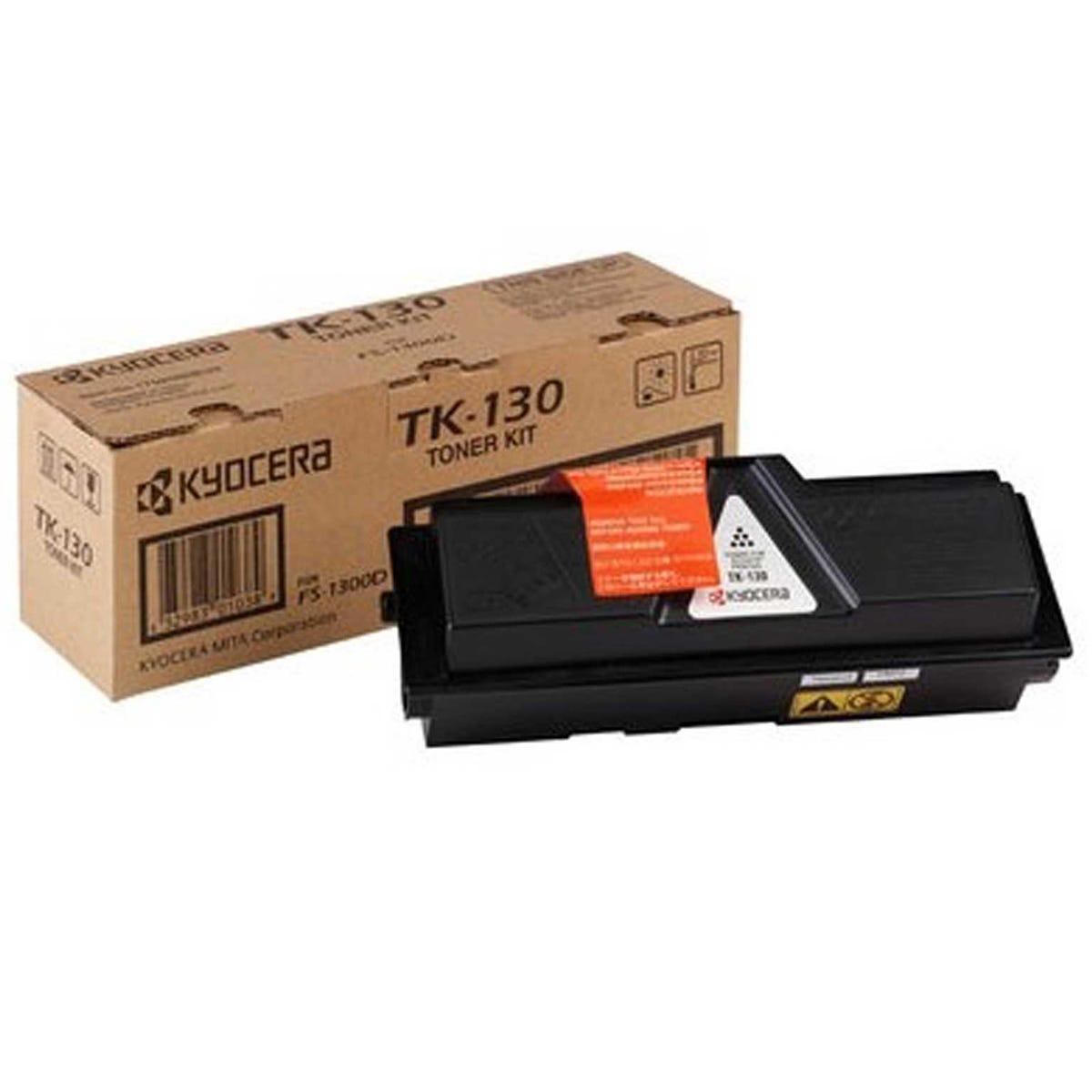 Image of Kyocera TK130 Printer Toner Cartridge, Black