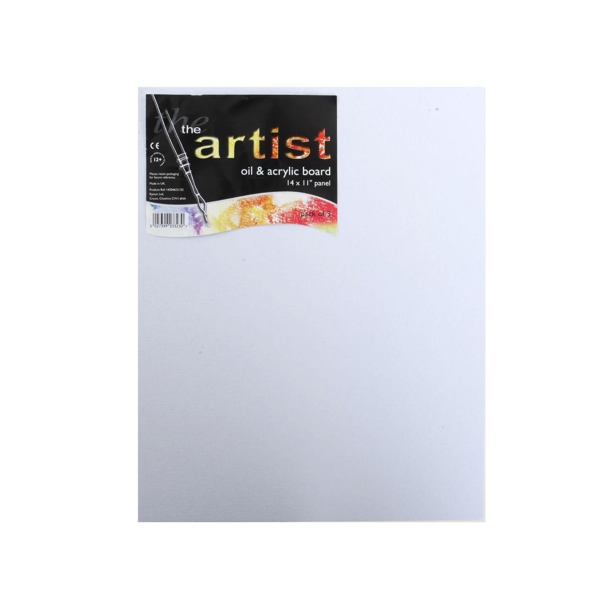 Ryman Oil & Acrylic Board 356x279mm Pack of 3