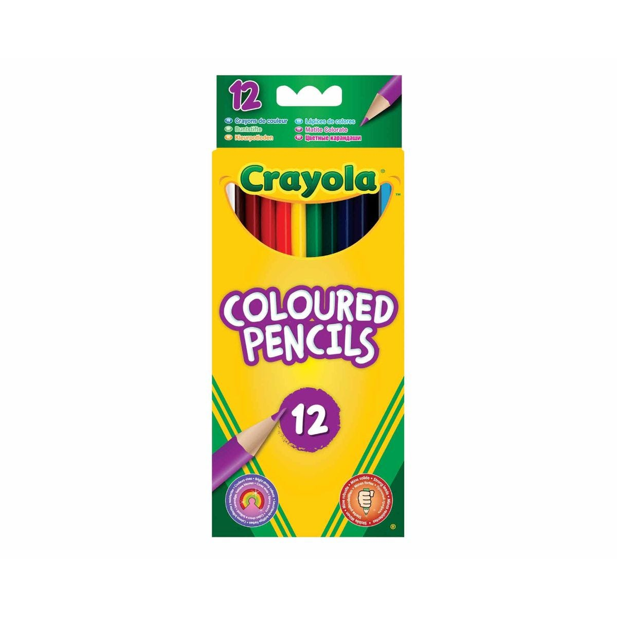 Crayola Coloured Pencils Pack of 12, Assorted