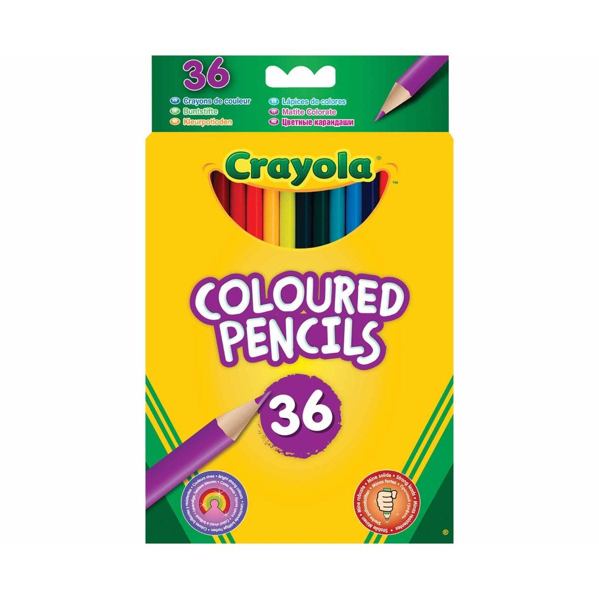 Crayola Coloured Pencils Pack of 36, Assorted