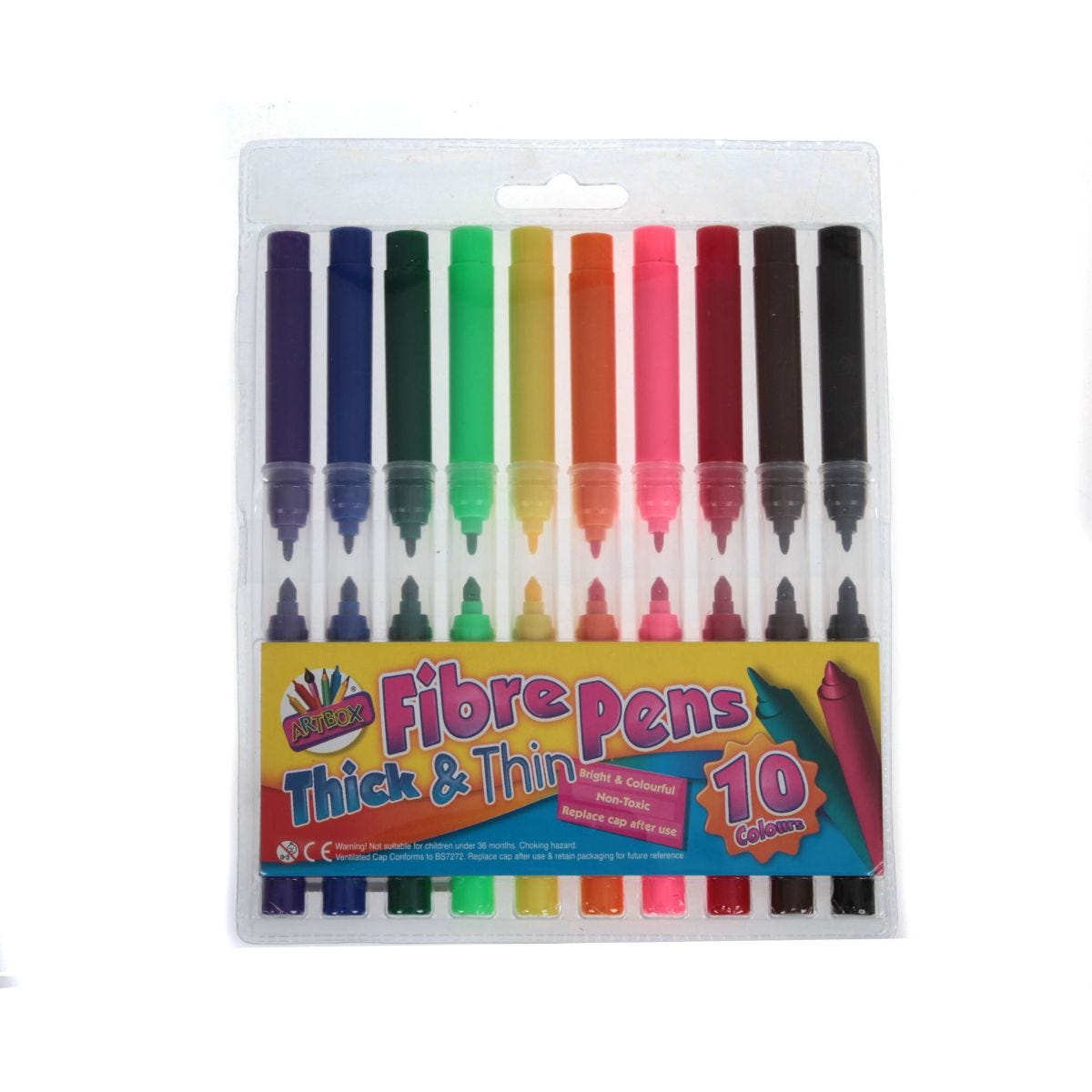 Image of 10 Thick and Thin Fibre Pens