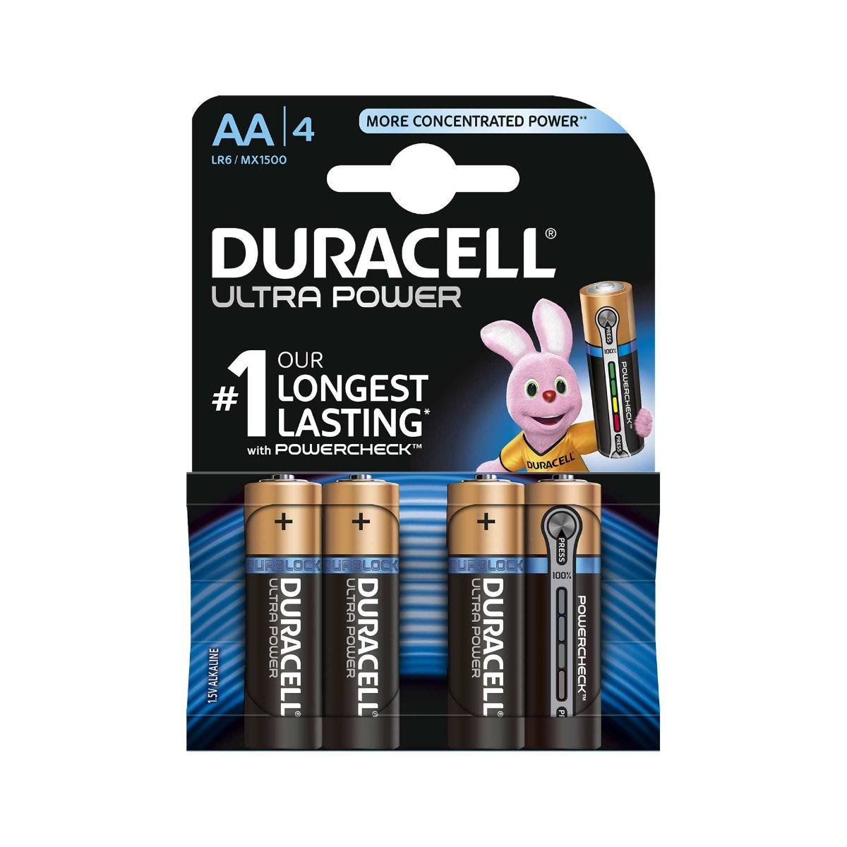 Image of Duracell Duralock Ultra Power AA Pack of 4