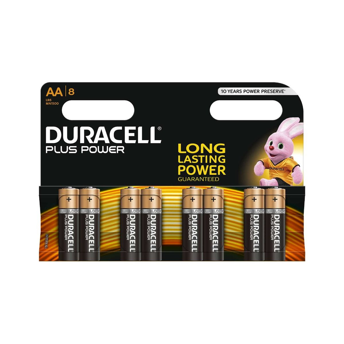 Image of Duracell Duralock Plus Power AA Pack of 8