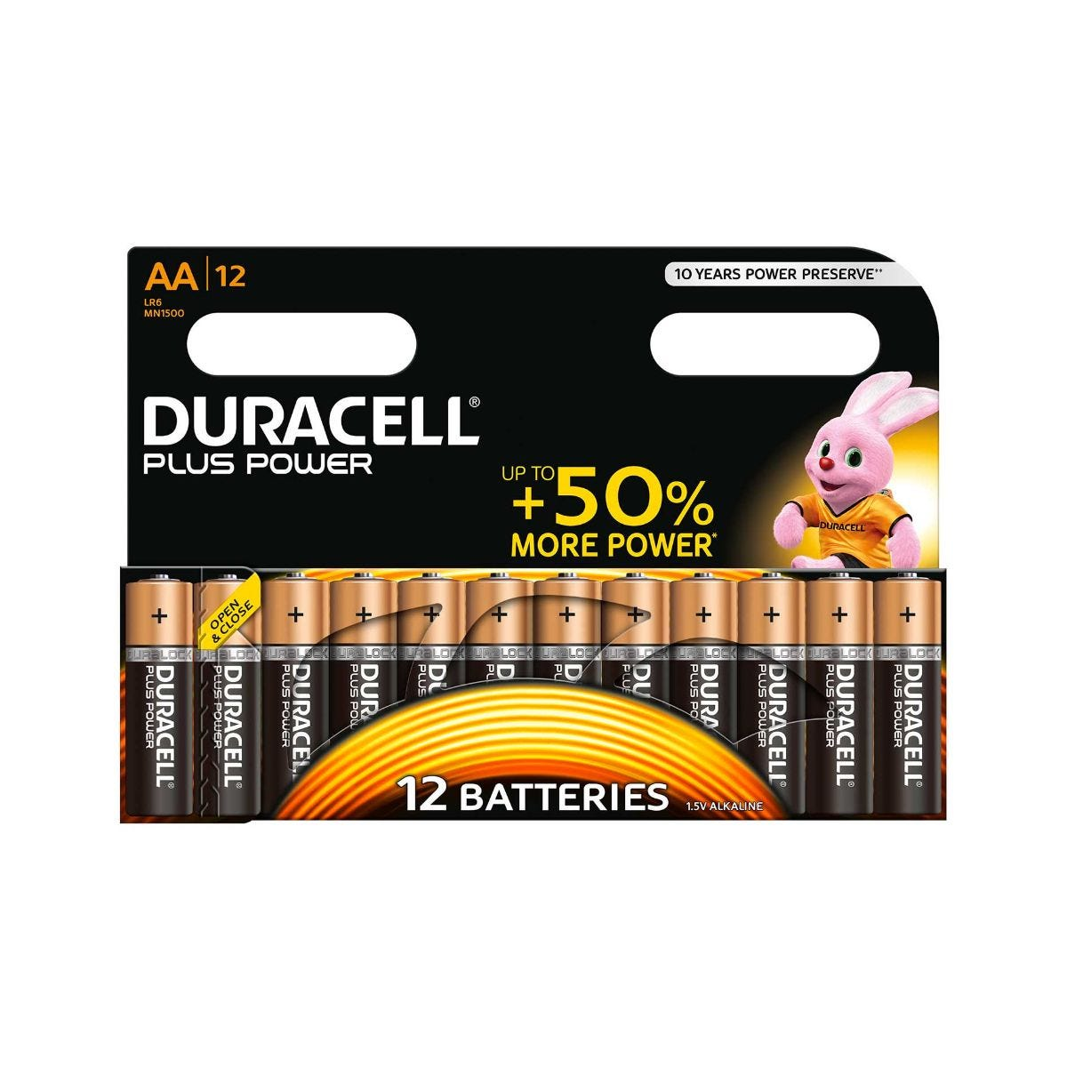 Image of Duracell Plus Power AA Batteries Pack of 12