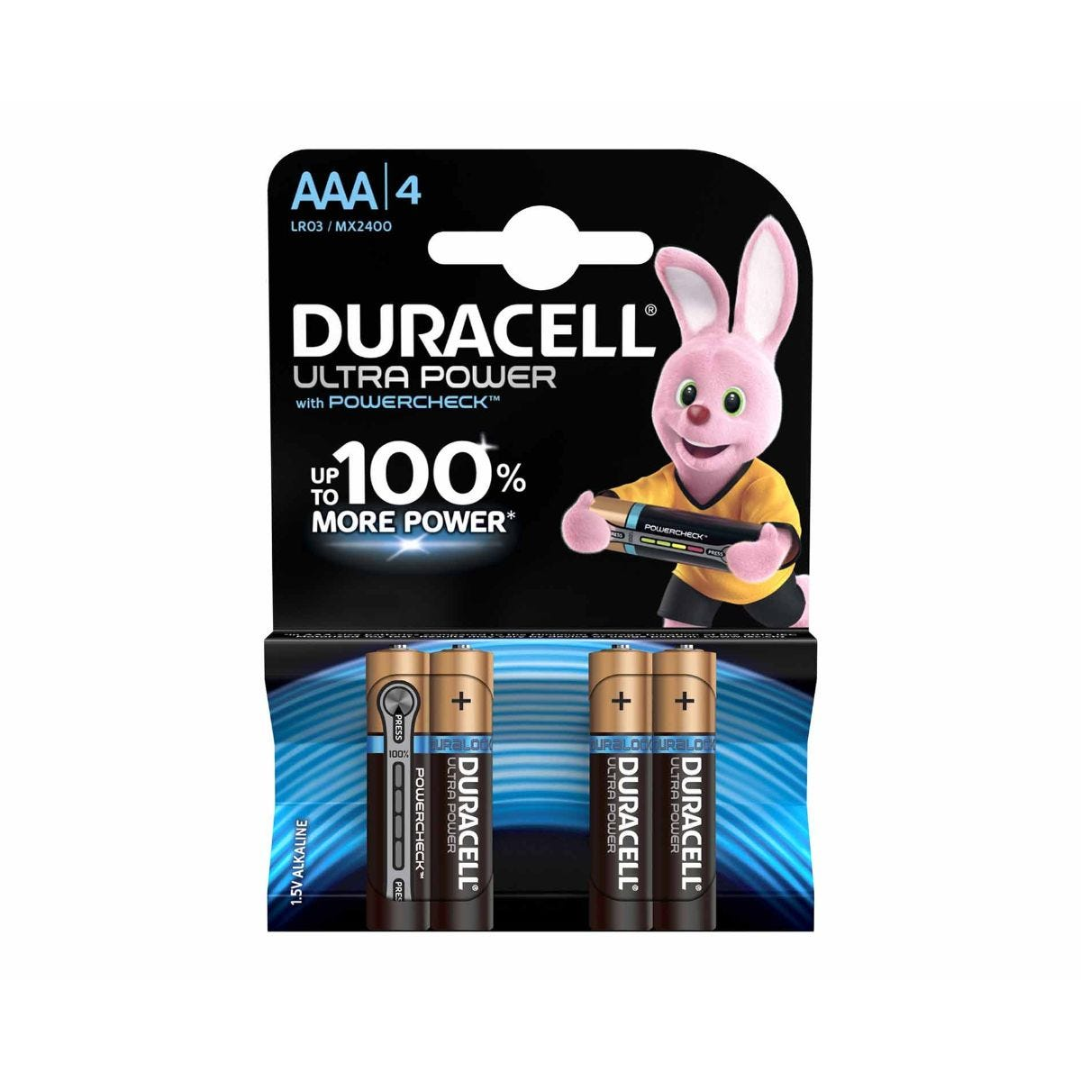 Image of Duracell Duralock Ultra Power AAA Pack of 4