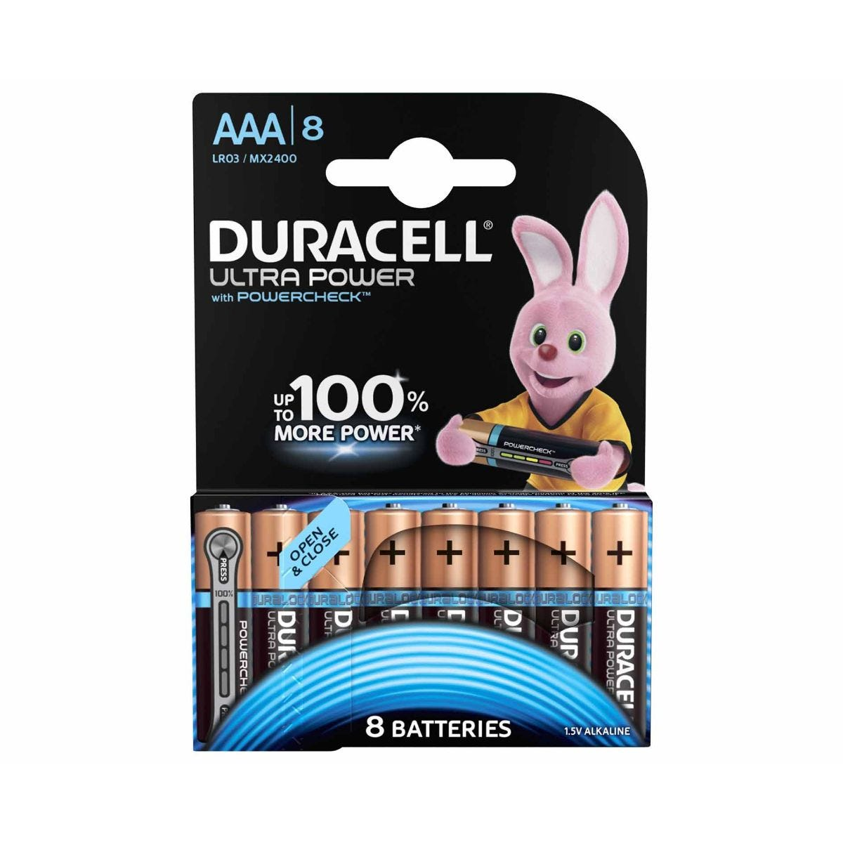 Image of Duracell Duralock Ultra Power AAA Pack of 8