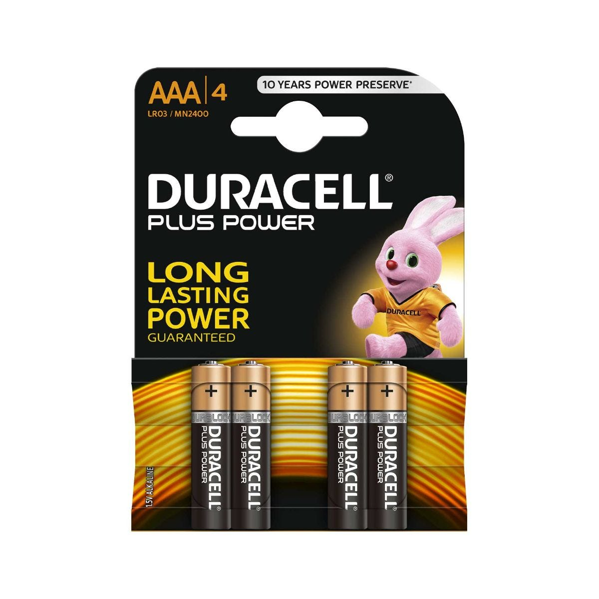 Image of Duracell Duralock Plus Power AAA Pack of 4