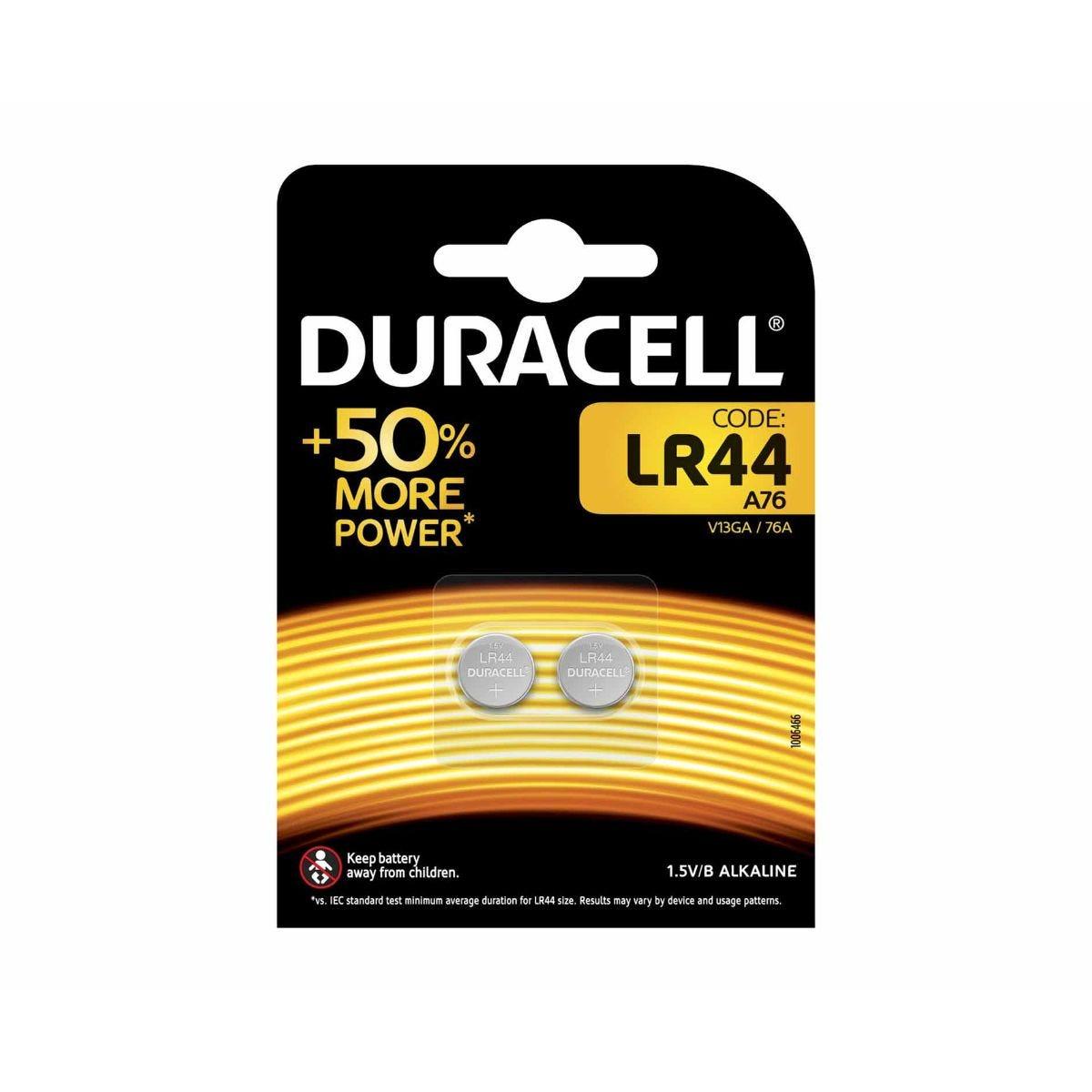 Image of Duracell Batteries LR44 Alkaline Pack of 2