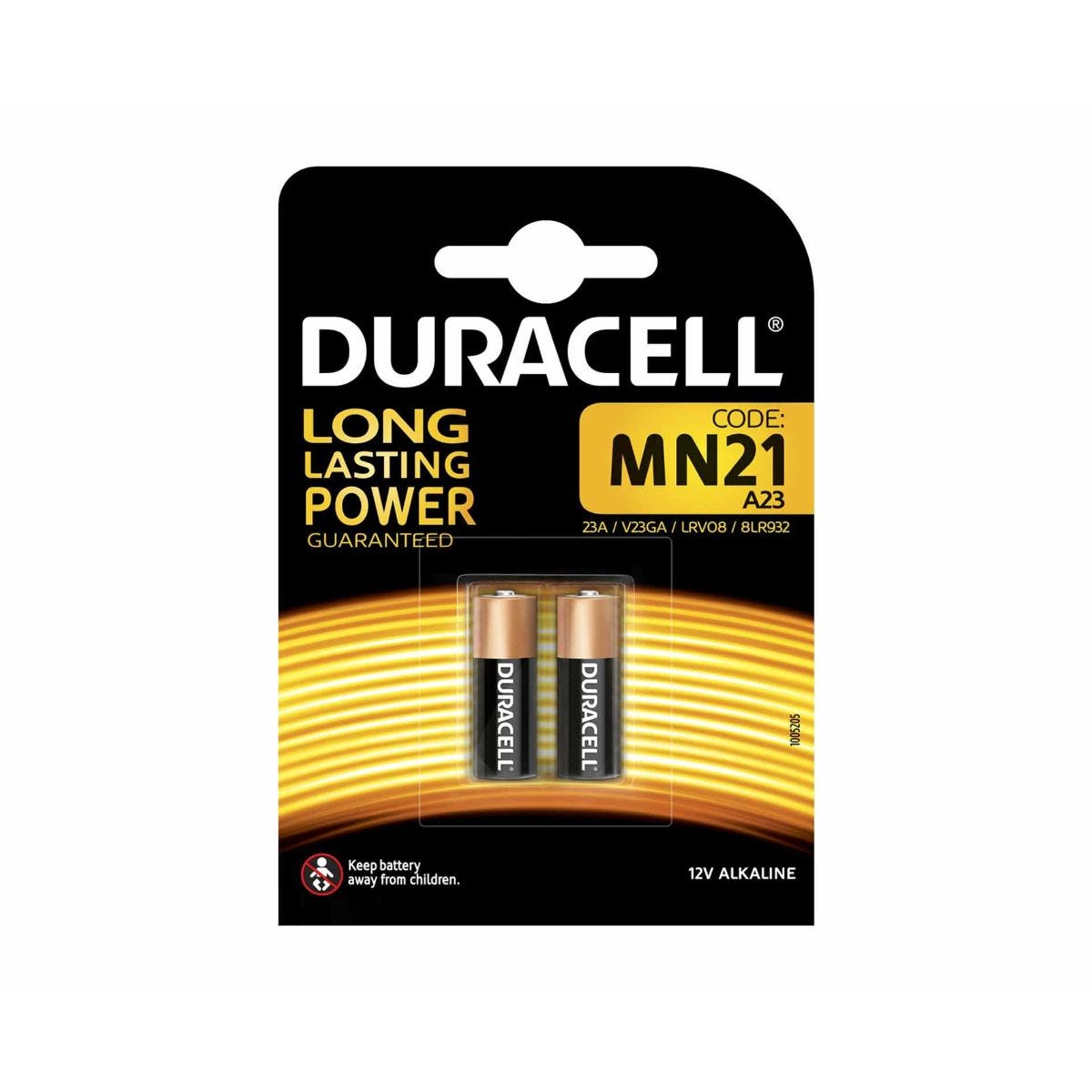 Image of Duracell Security MN21 Pack of 2