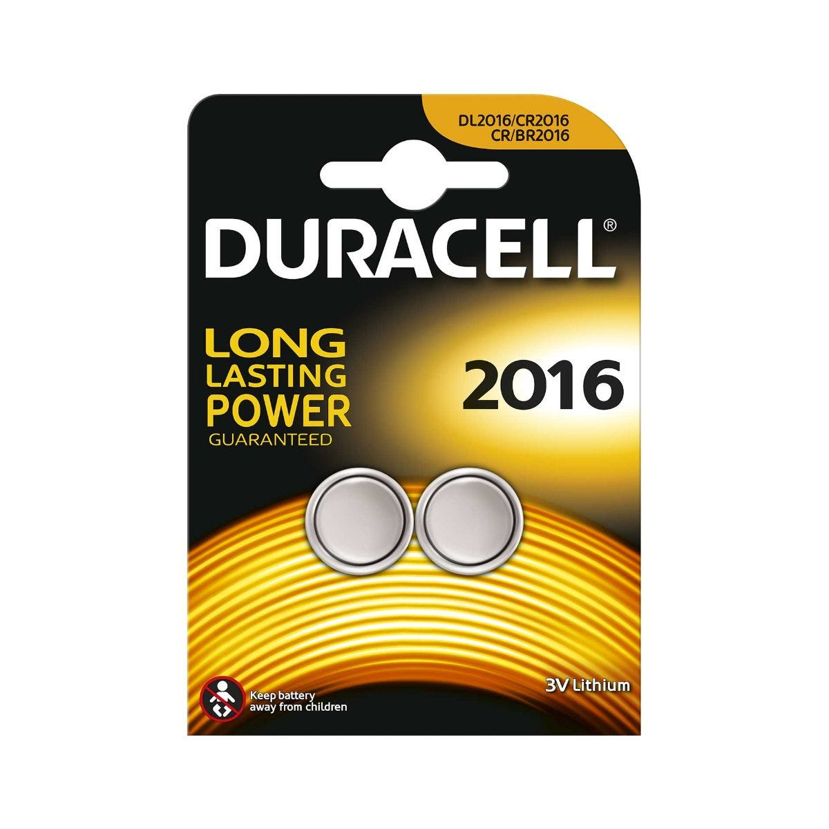 Image of Duracell Electronics DL2016 Pack of 2