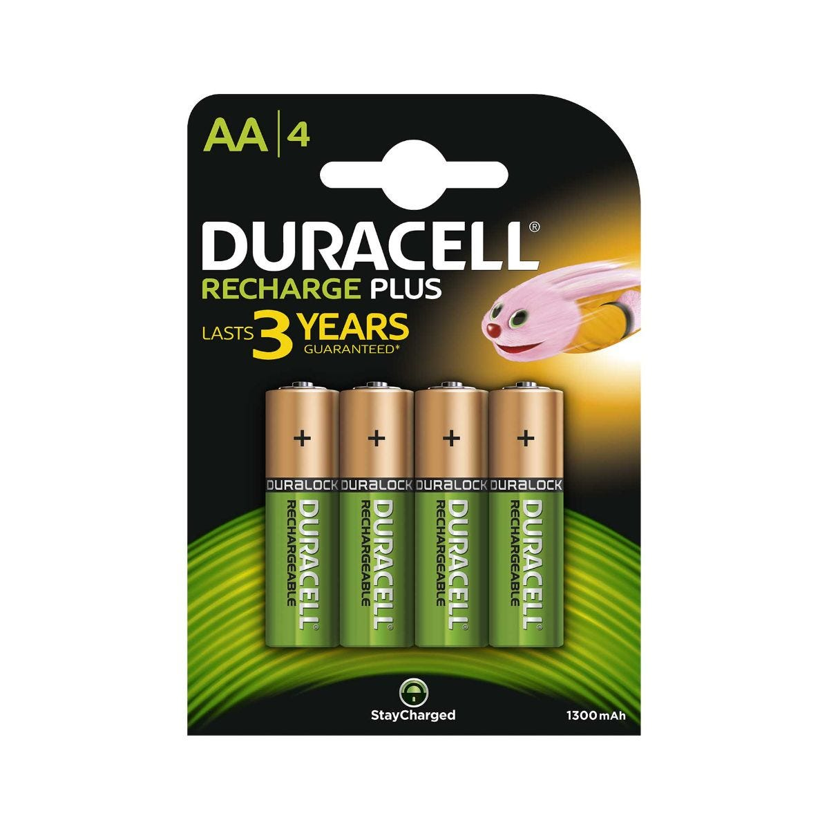 Image of Duracell Rechargeable AA Pack of 4