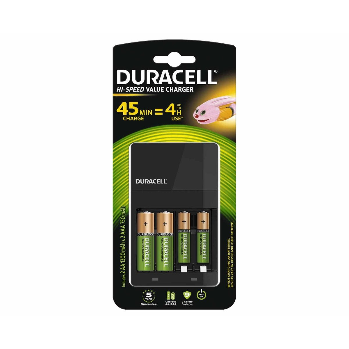 Image of Duracell 4 Hour Battery Charger