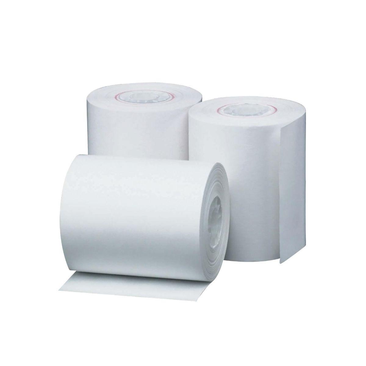 Prestige Cash Register Till Roll 1-Ply L40m x W44mm Pack of 20, White