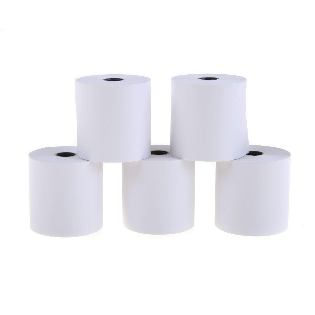 Ryman Adding Machine Rolls Pack of 5 57x57x12mm, White