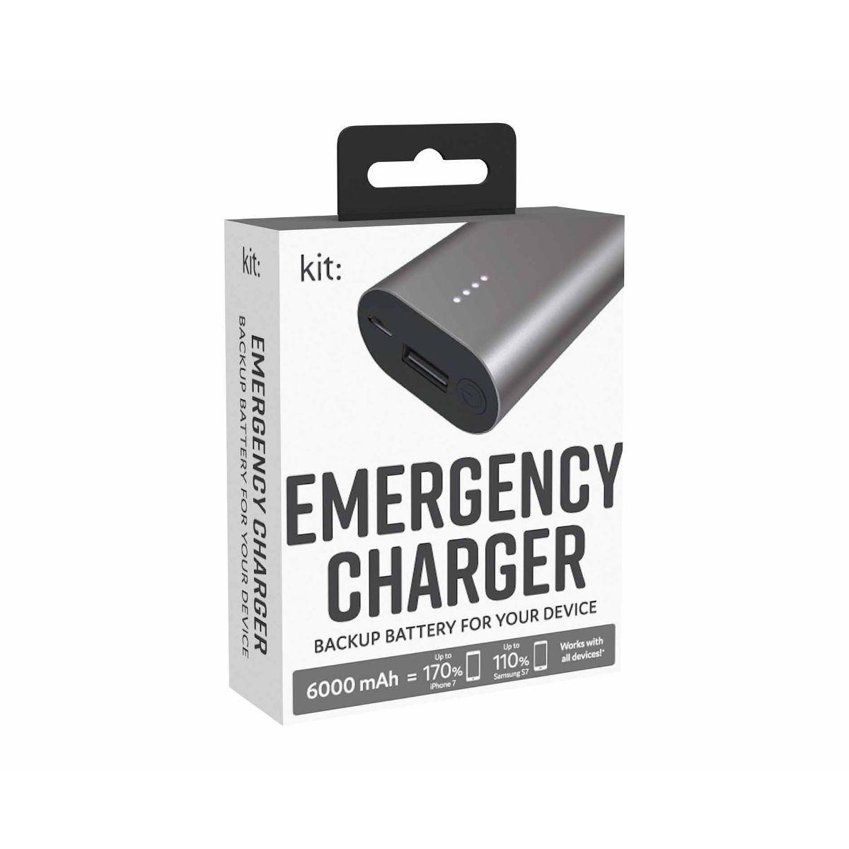 Kit Premium Emergency Charger 6000mAh
