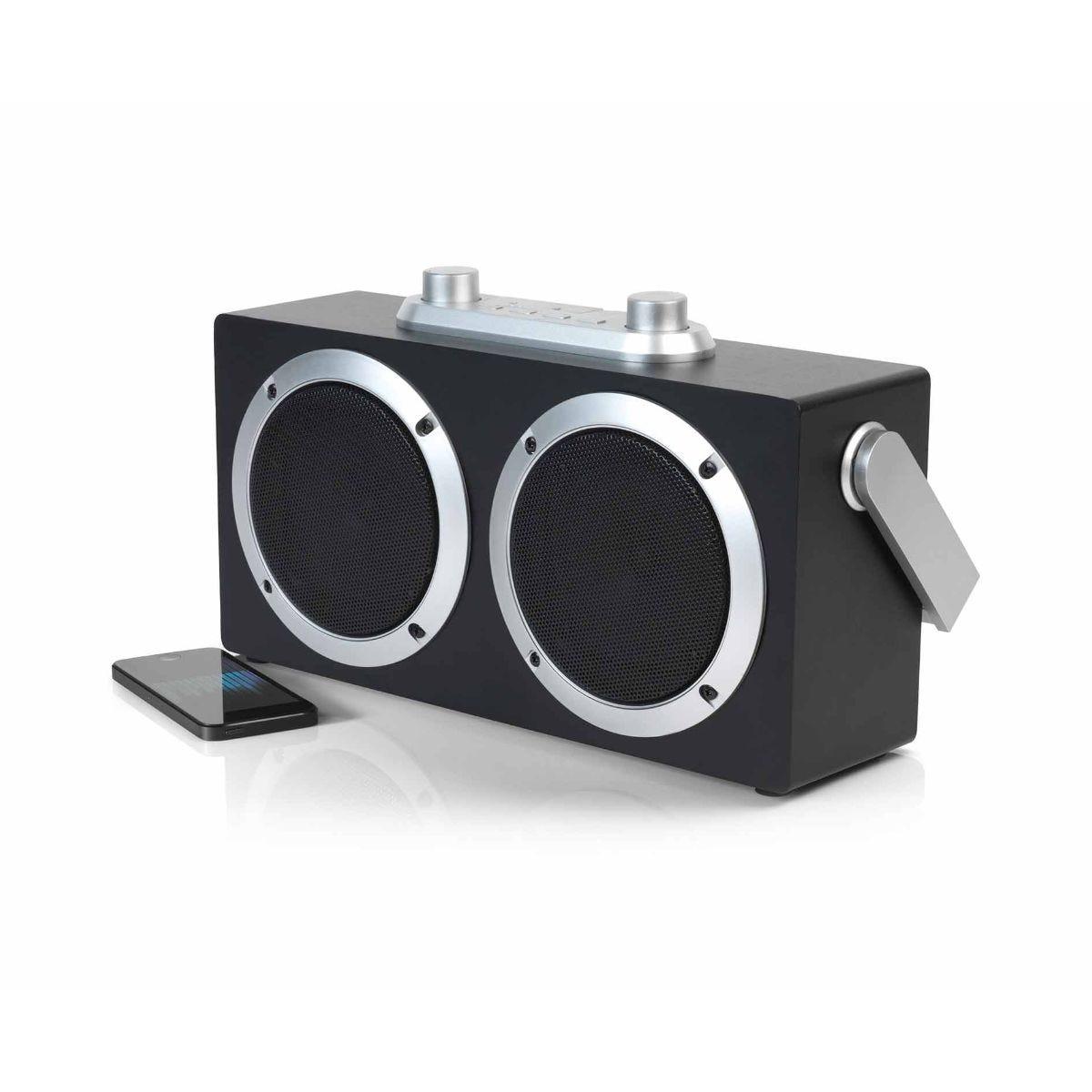 Image of Intempo Retro Blaster Wireless Bluetooth Speaker, Silver