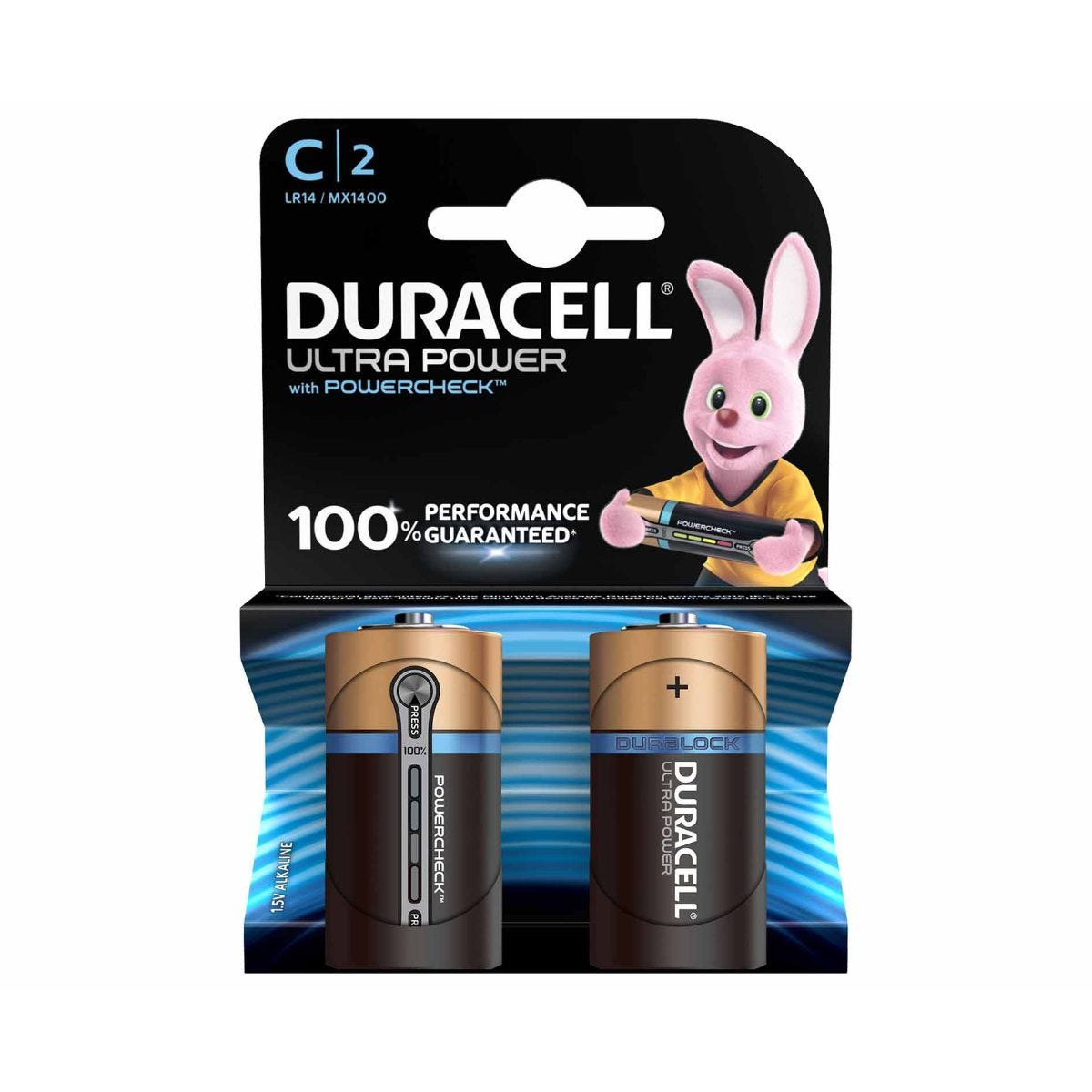 Duracell Ultra Power C Batteries Pack of 2
