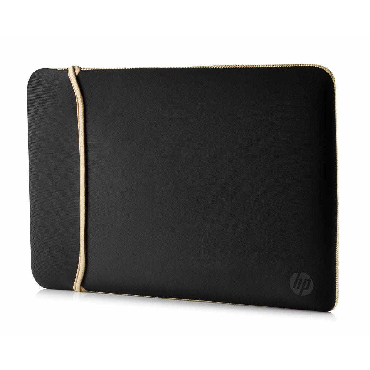 Image of HP Neoprene 15 Inch Reversible Laptop Sleeve - Black and Gold