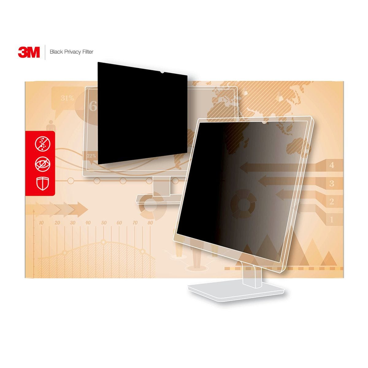 Image of 3M Privacy Filter Widescreen Laptop 12.5 inch PF12.5W