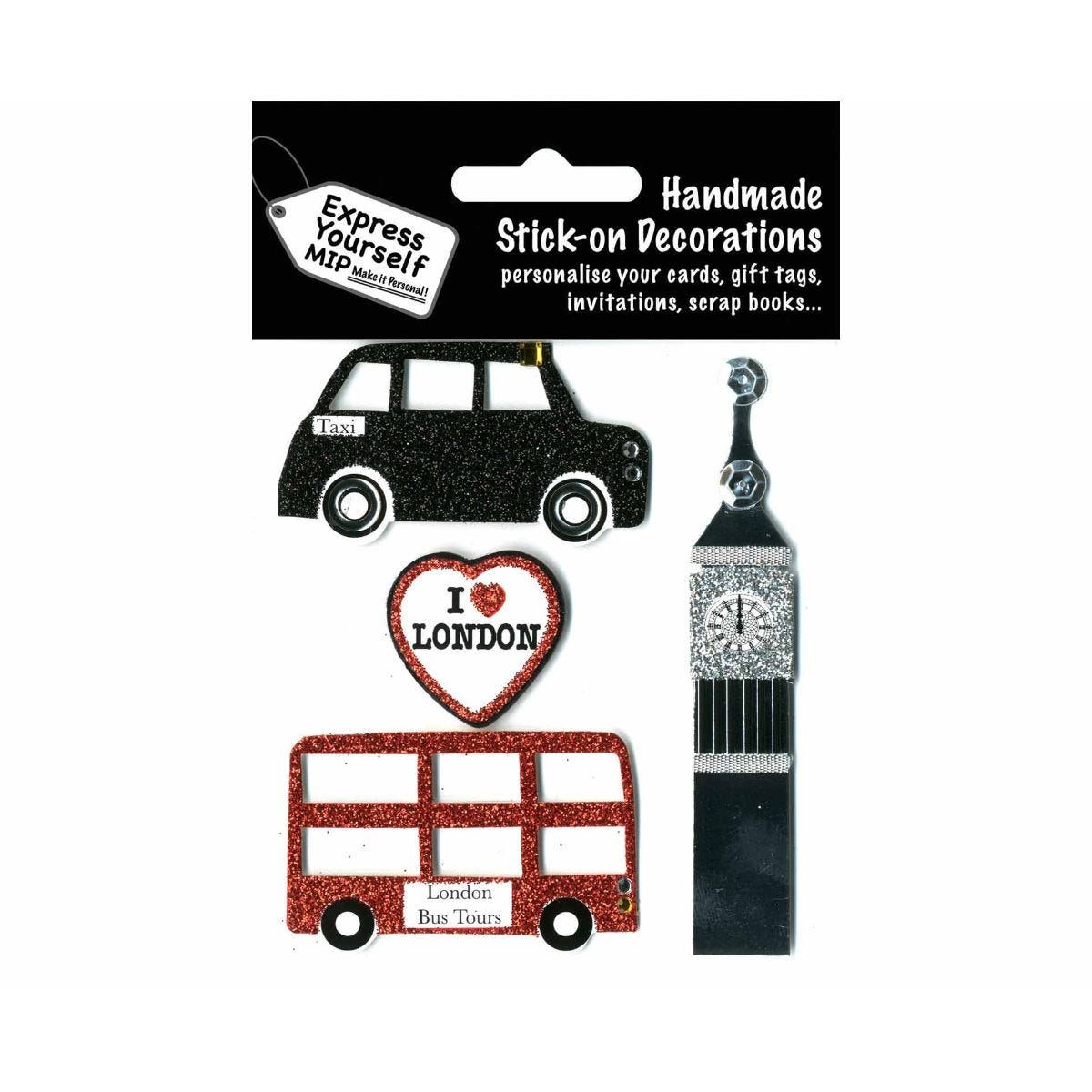 Image of Express Yourself London Theme Stick-On Decorations