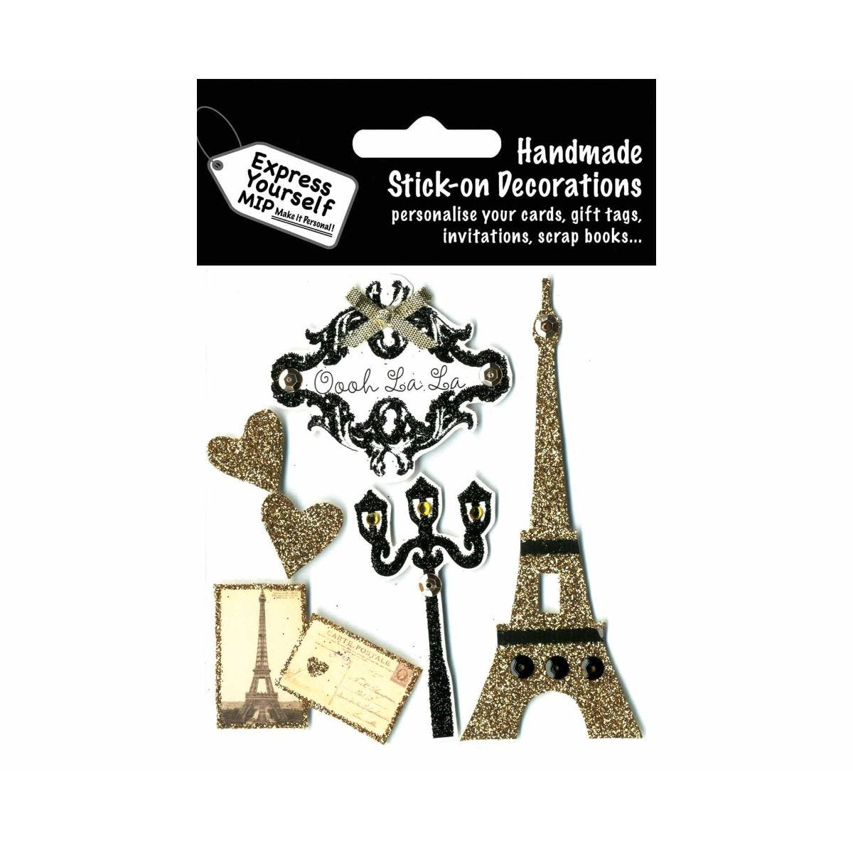 Image of Express Yourself Paris Theme Stick-On Decorations
