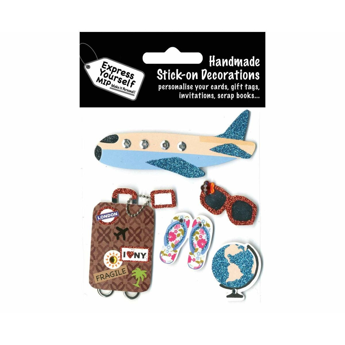 Image of Express Yourself Holiday Theme Stick-On Decorations