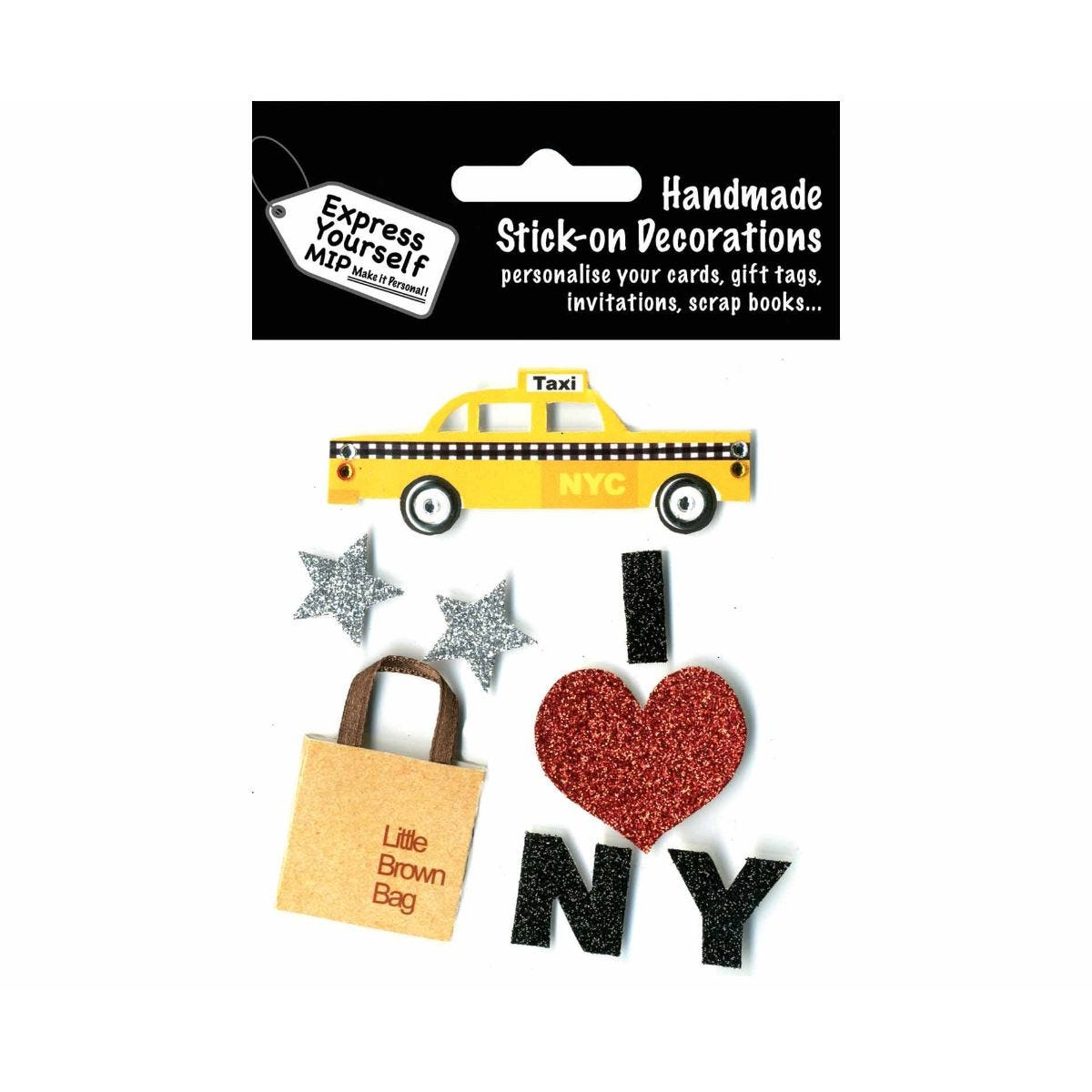 Image of Express yourself New York Theme Stick On-Decorations