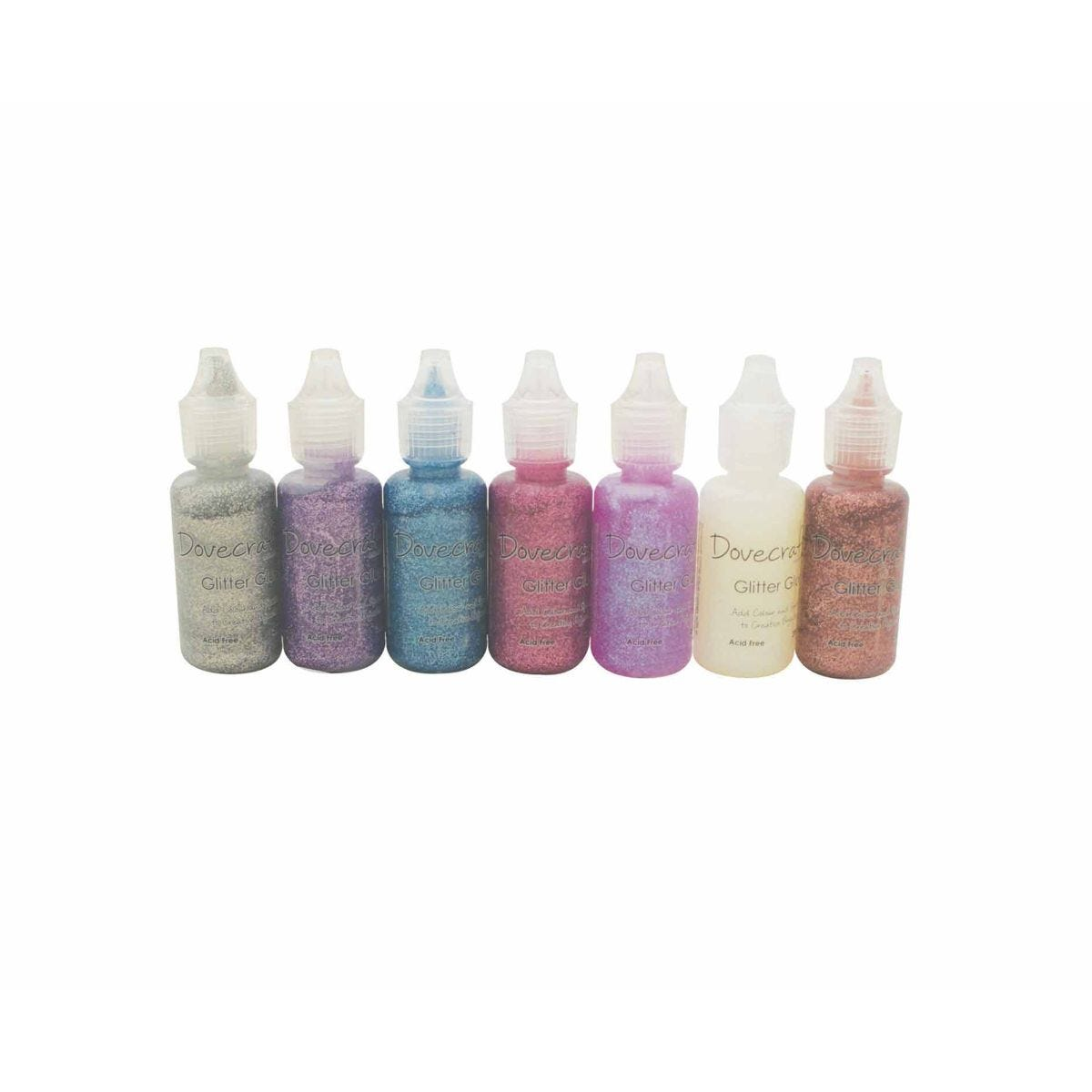 Dovecraft Glitter Glue Pastels Assorted 20ml