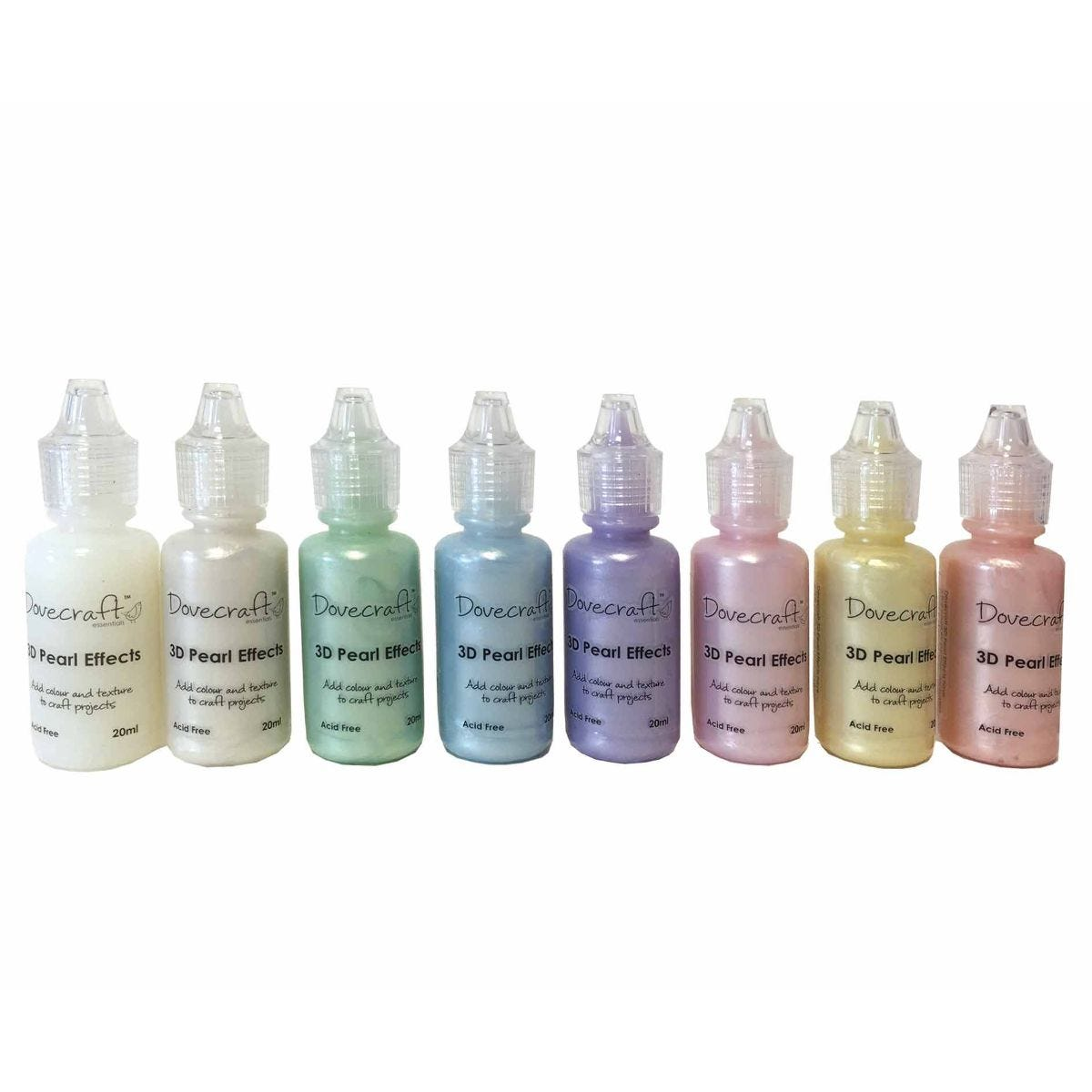 Dovecraft Glitter Glue Pearl Effect Pastels Assorted 20ml