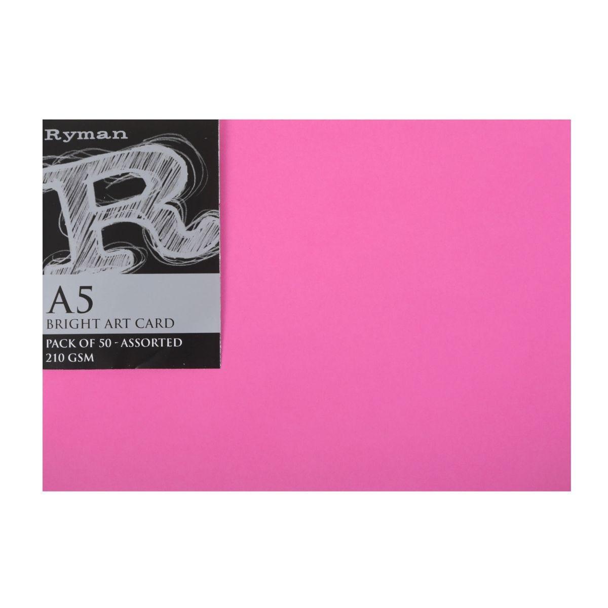 Ryman Art Card, Bright Asstd
