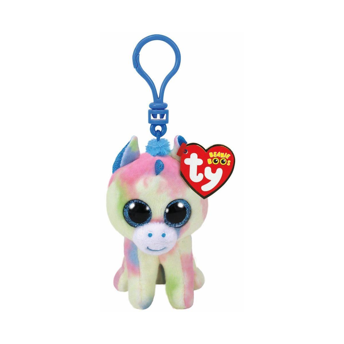 Image of Ty Blitz Beanie Boo Unicorn Clip Keyring