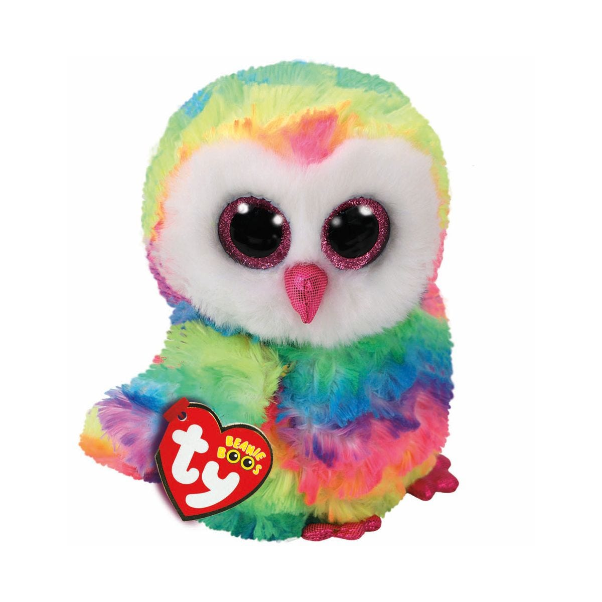 Image of Ty Owen Owl Beanie Boo Cuddly Toy