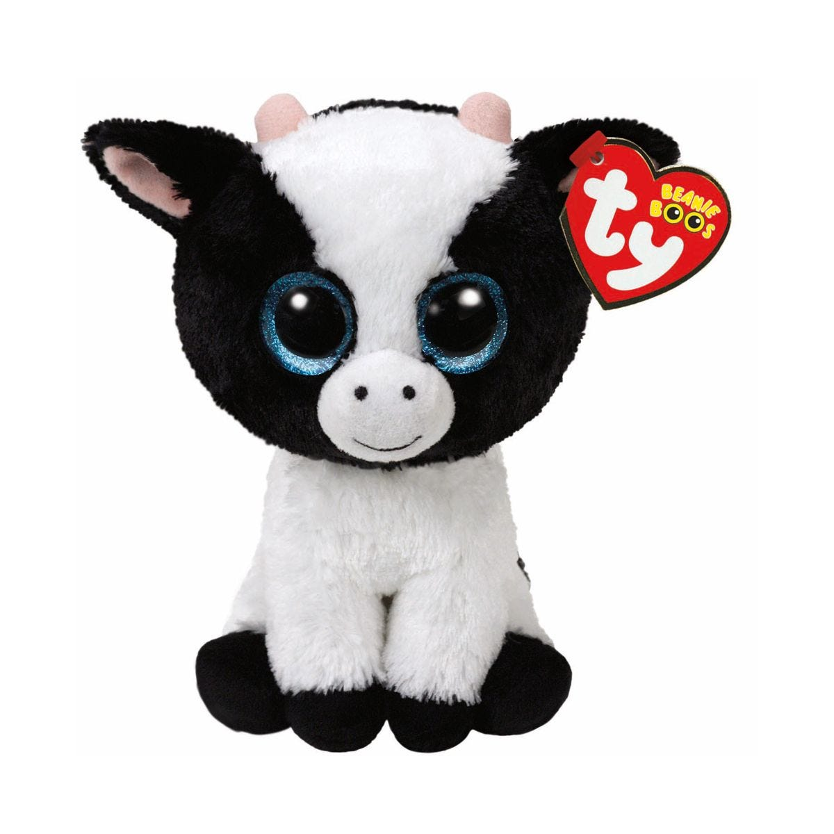 Image of Ty Butter Cow Beanie Boo Cuddly Toy