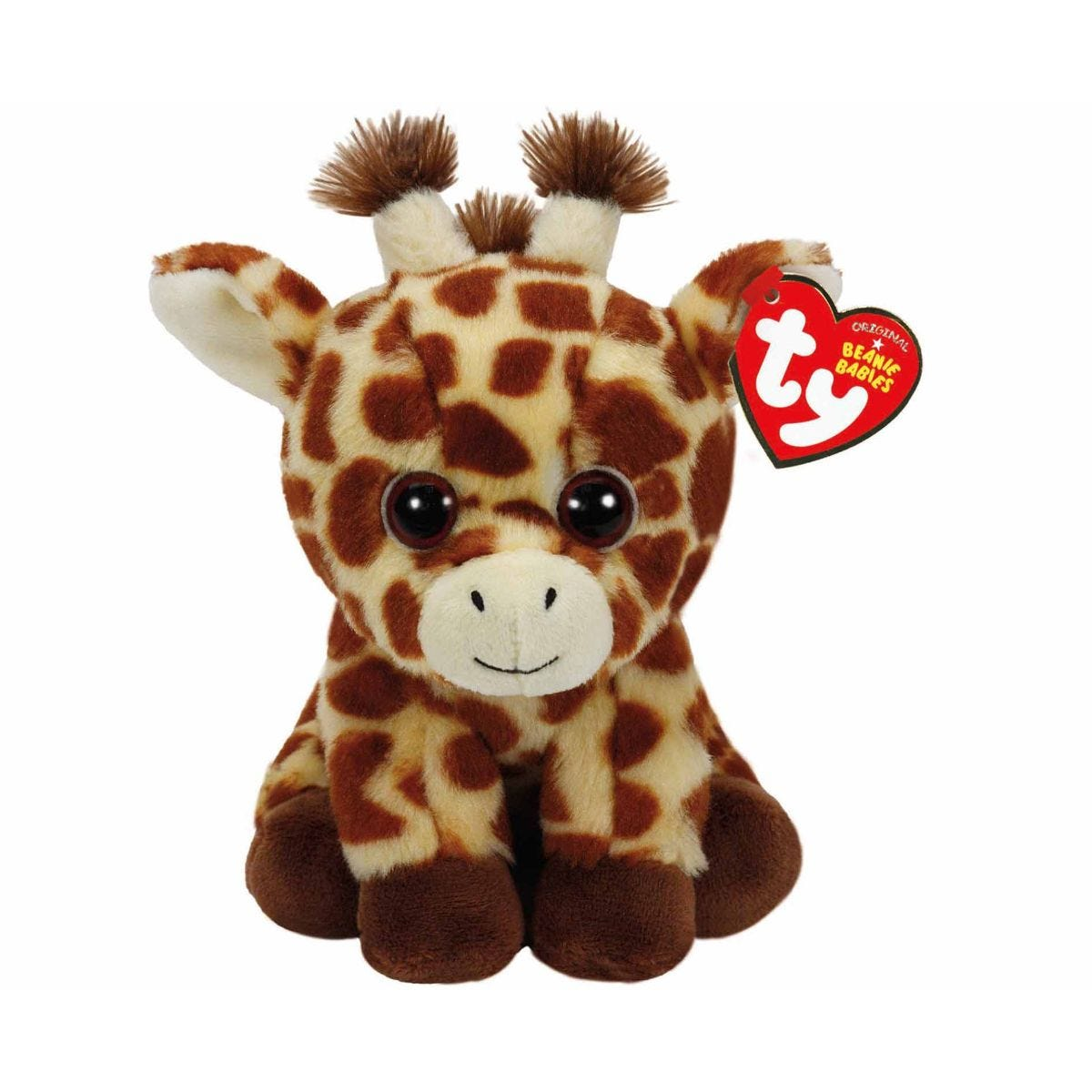 Image of Ty Peaches Giraffe Beanie Baby Cuddly Toy