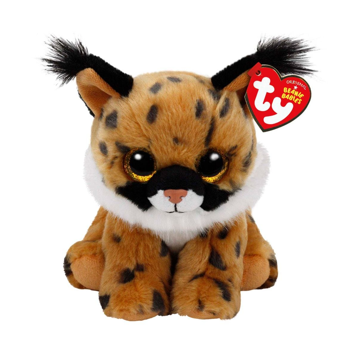 Image of Ty Larry Lynx Beanie Baby Cuddly Toy