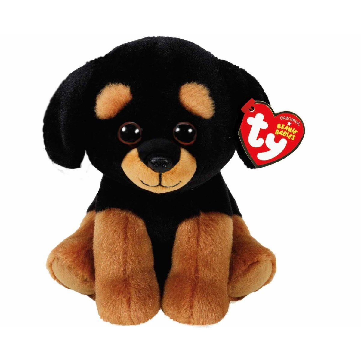 Image of Ty Trevor Rottweiler Beanie Baby Cuddly Toy