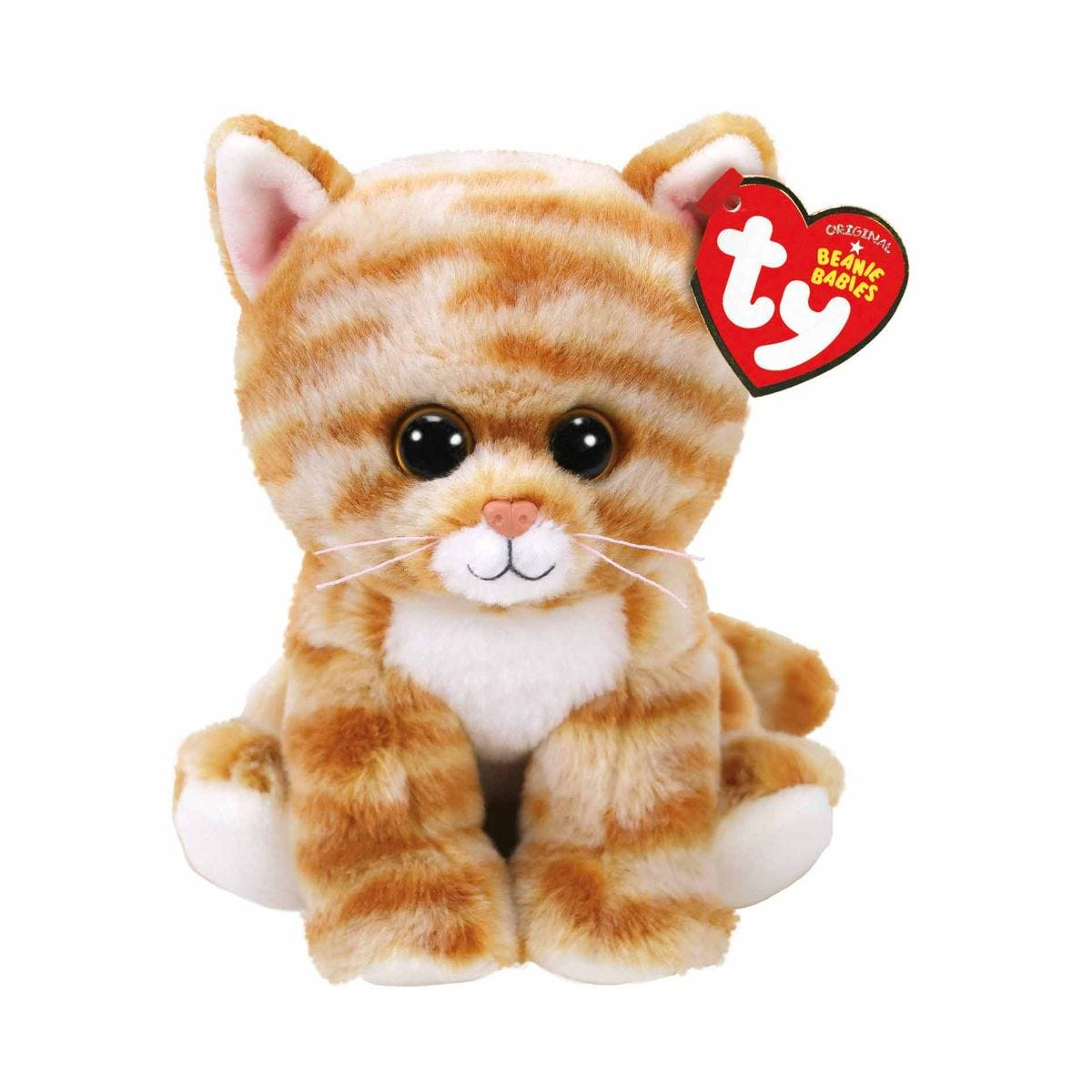 Image of Ty Cloe Ginger Tabbt Cat Beanie Baby Cuddly Toy