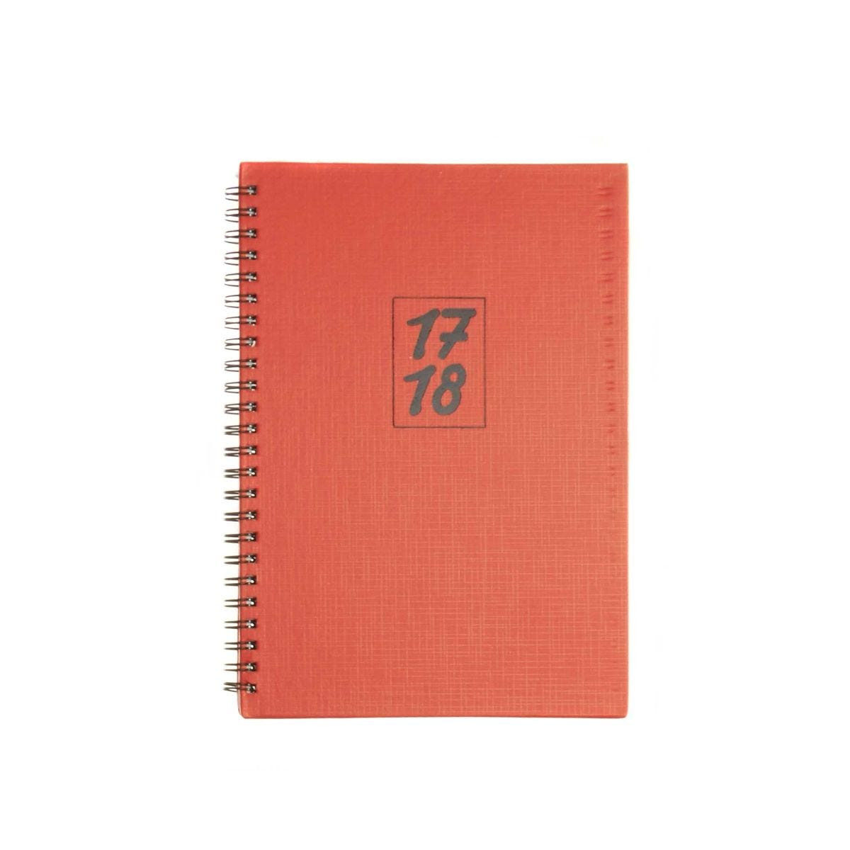 Ryman Mid Year Diary A5 Week to View 2017-2018 Essentials Wiro, Red.