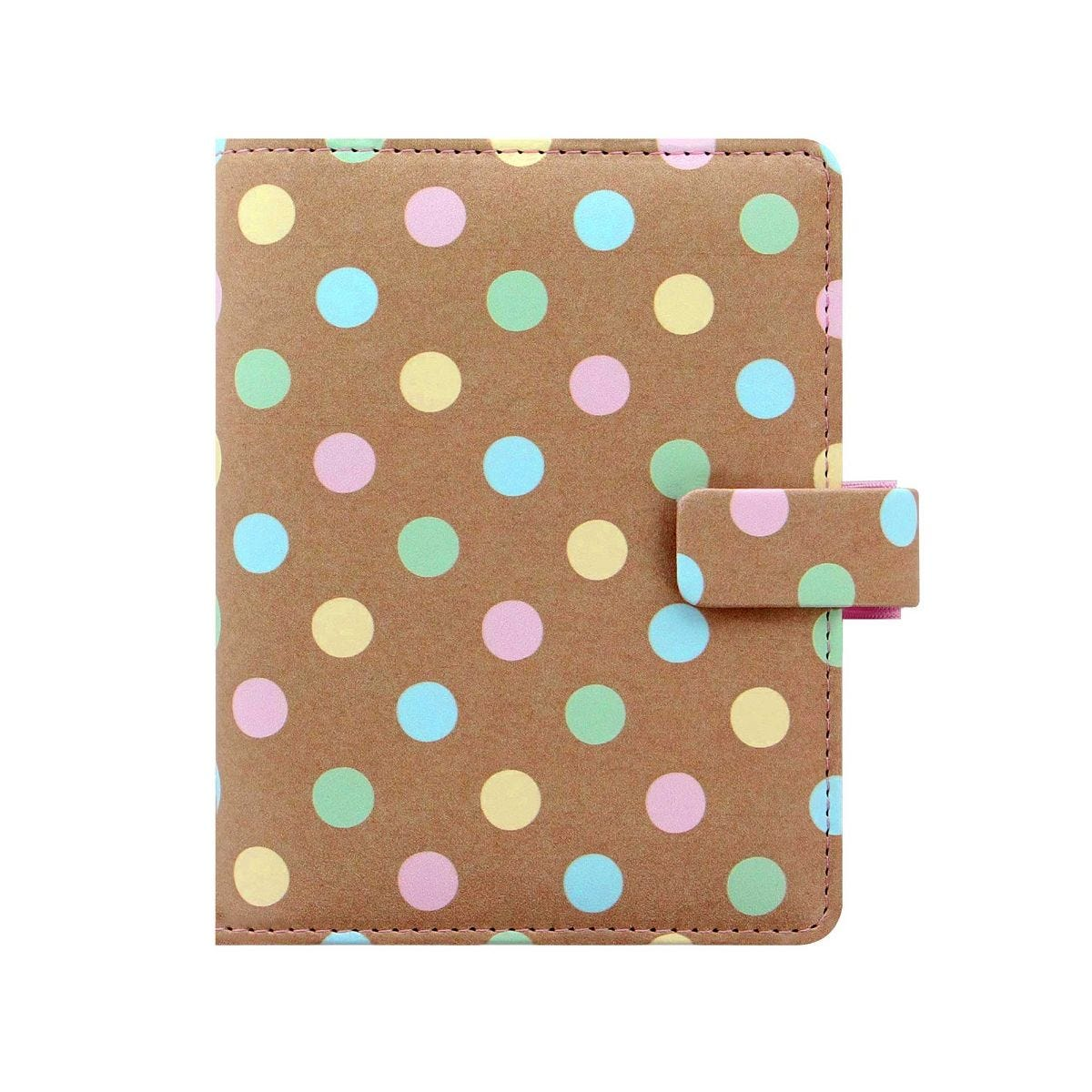 Filofax Pocket Kraft Spots Organiser, Pastel Spots