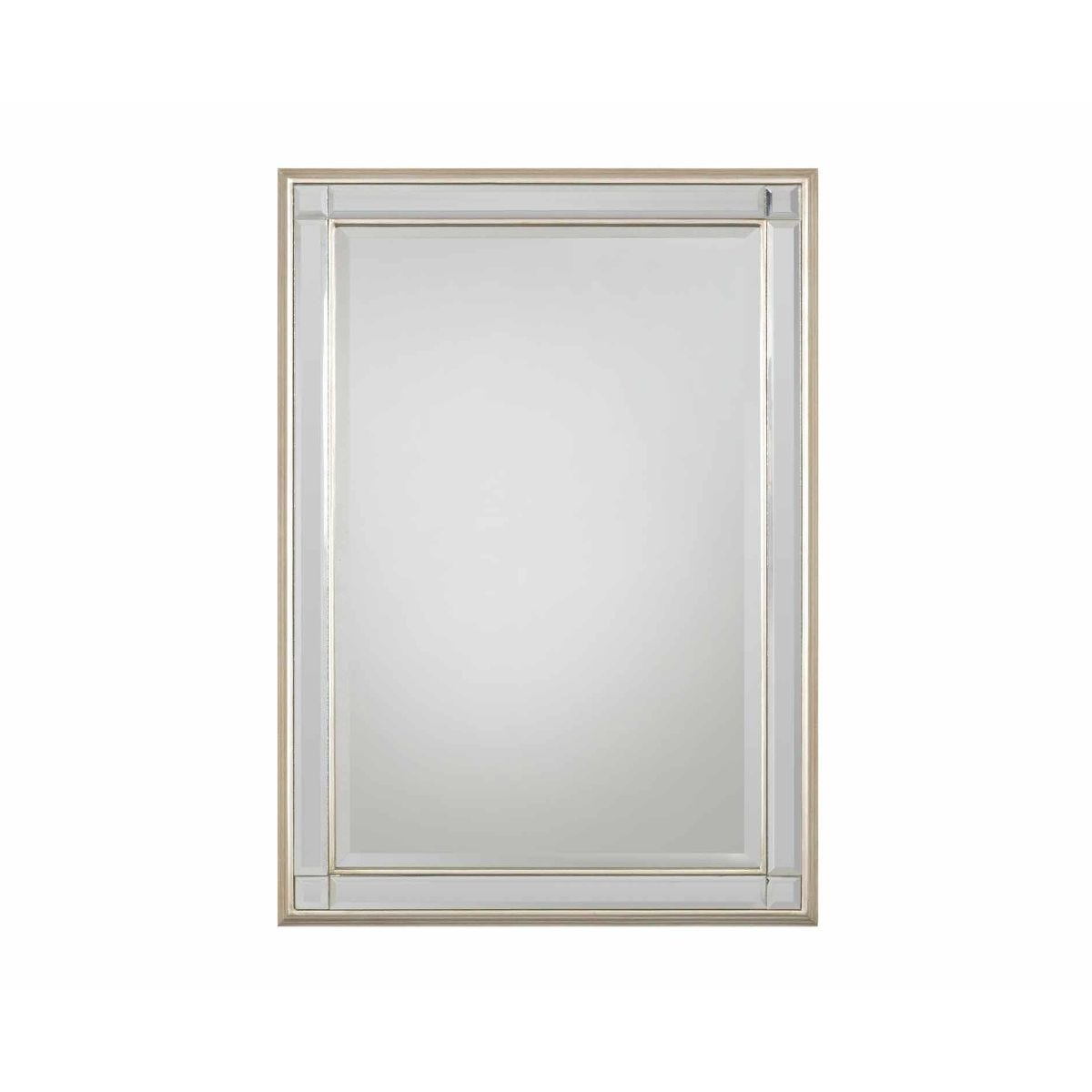 Chelsea Bevelled Rectangular Mirror, Champagne