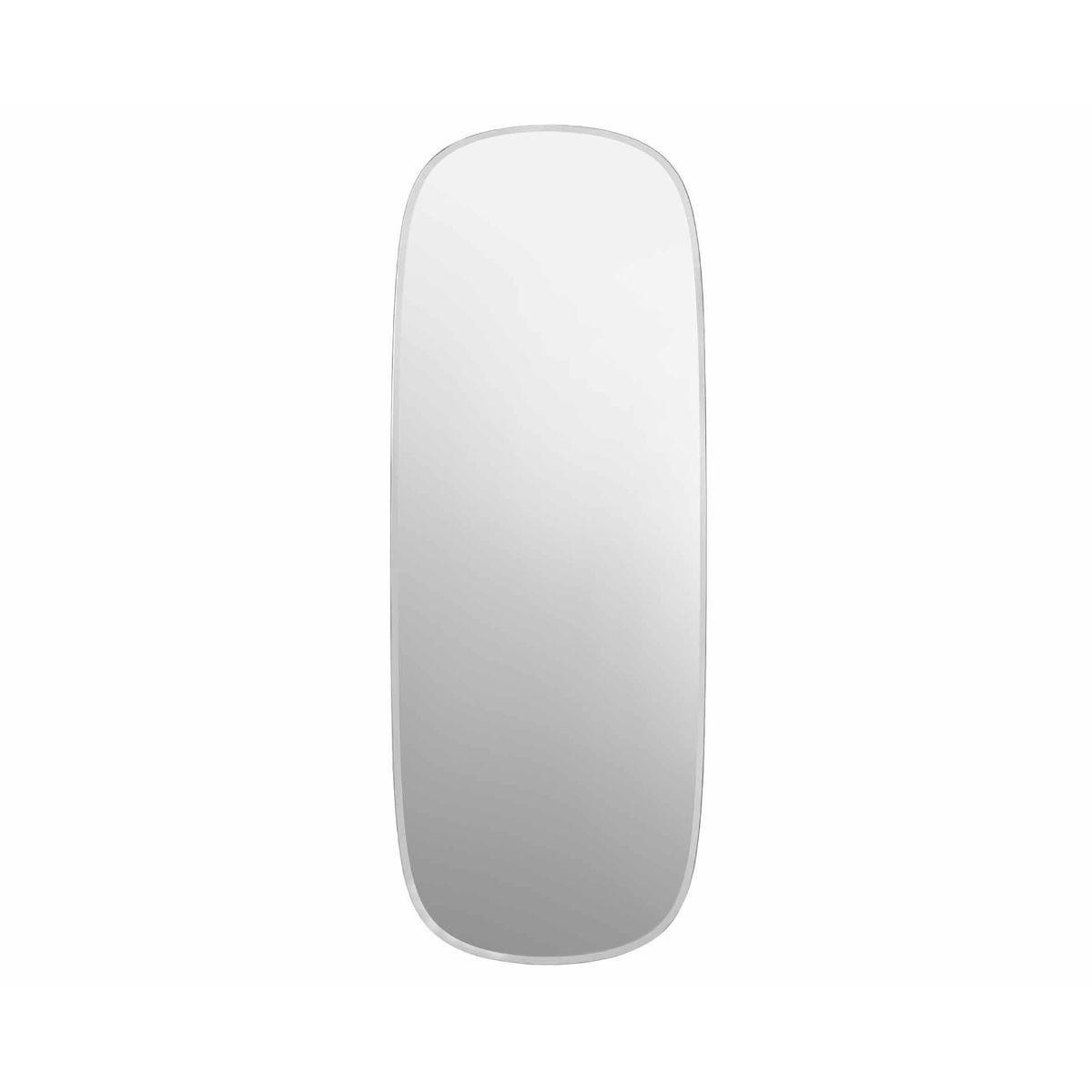 Innova Linnea Bevelled Frameless Wall Mirror 118cm x 45cm Silver