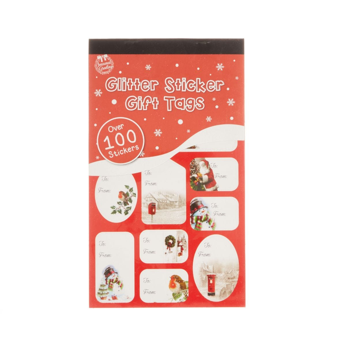 Image of Glitter Sticker Christmas Gift Tags